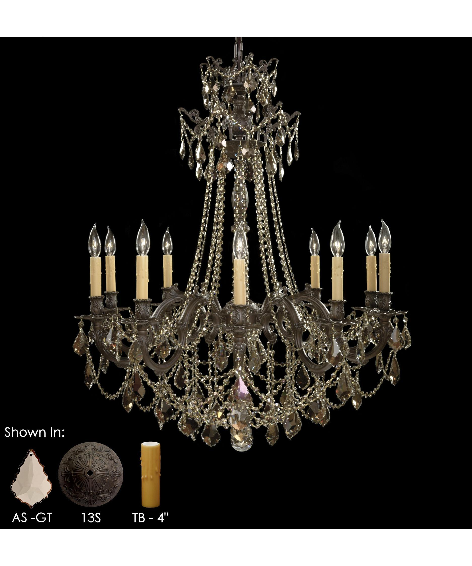 American Brass and Crystal Biella 36 Inch Wide 12 Light Chandelier – American Brass and Crystal Chandeliers