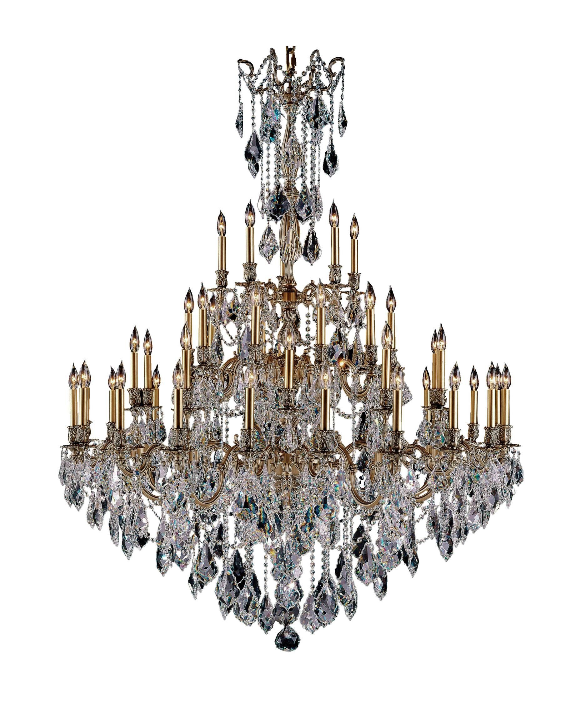 American Brass and Crystal Elise 54 Inch Wide 45 Light Chandelier – American Brass and Crystal Chandeliers