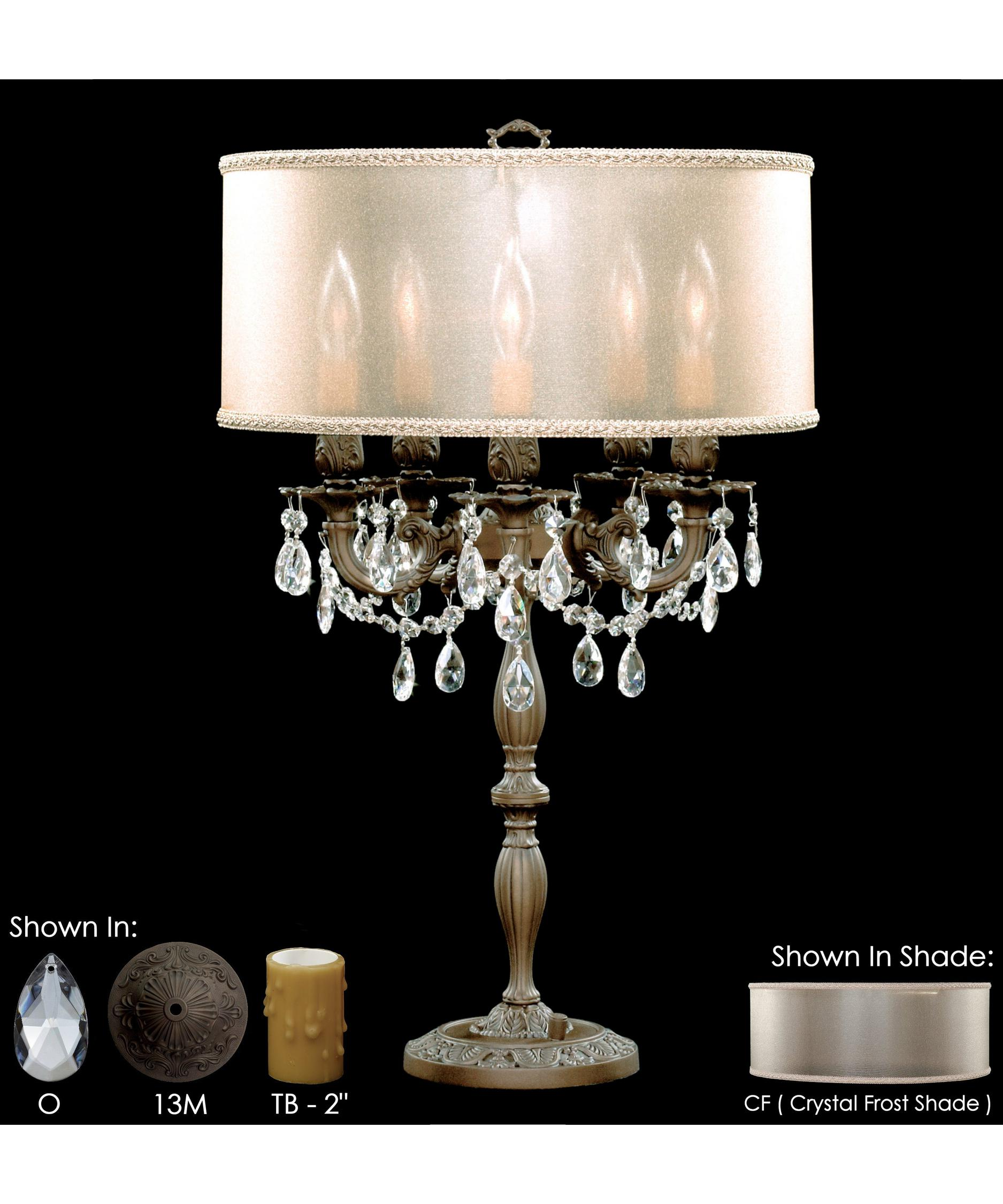 Shown In Aged Bronze Matte Finish With Clear Precision Teardrop Crystal,  Crystal Frost Shade And