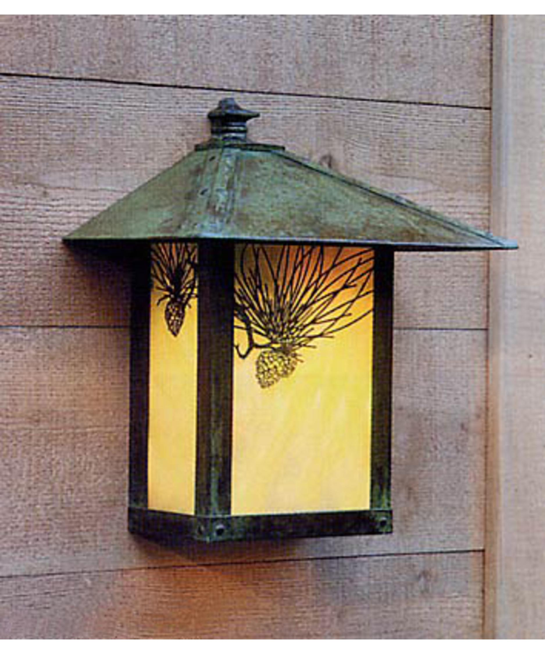 shown in verdigris patina finish gold white iridescent glass and pine needle accent arroyo craftsman lighting