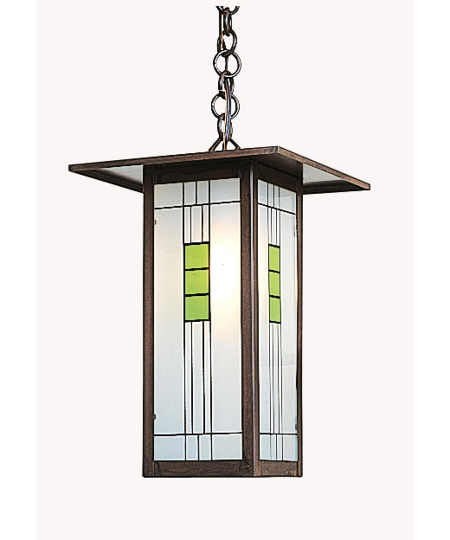 shown in bronze finish and green black combination glass arroyo craftsman lighting