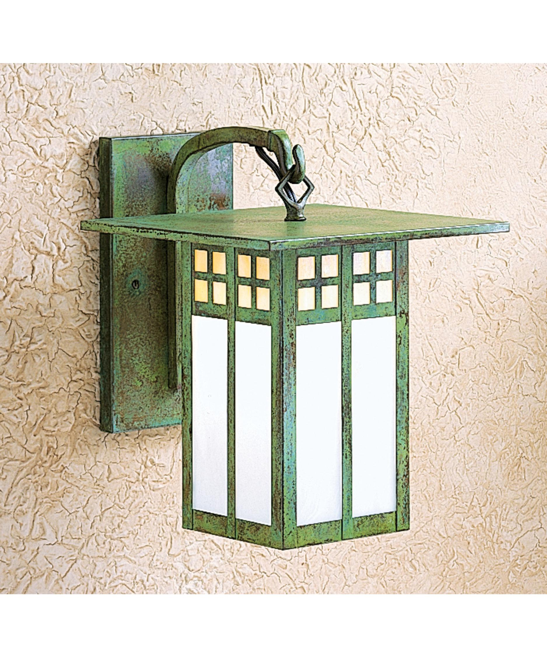 shown in verdigris patina finish and gold white iridescent white opalescent combination glass arroyo craftsman lighting
