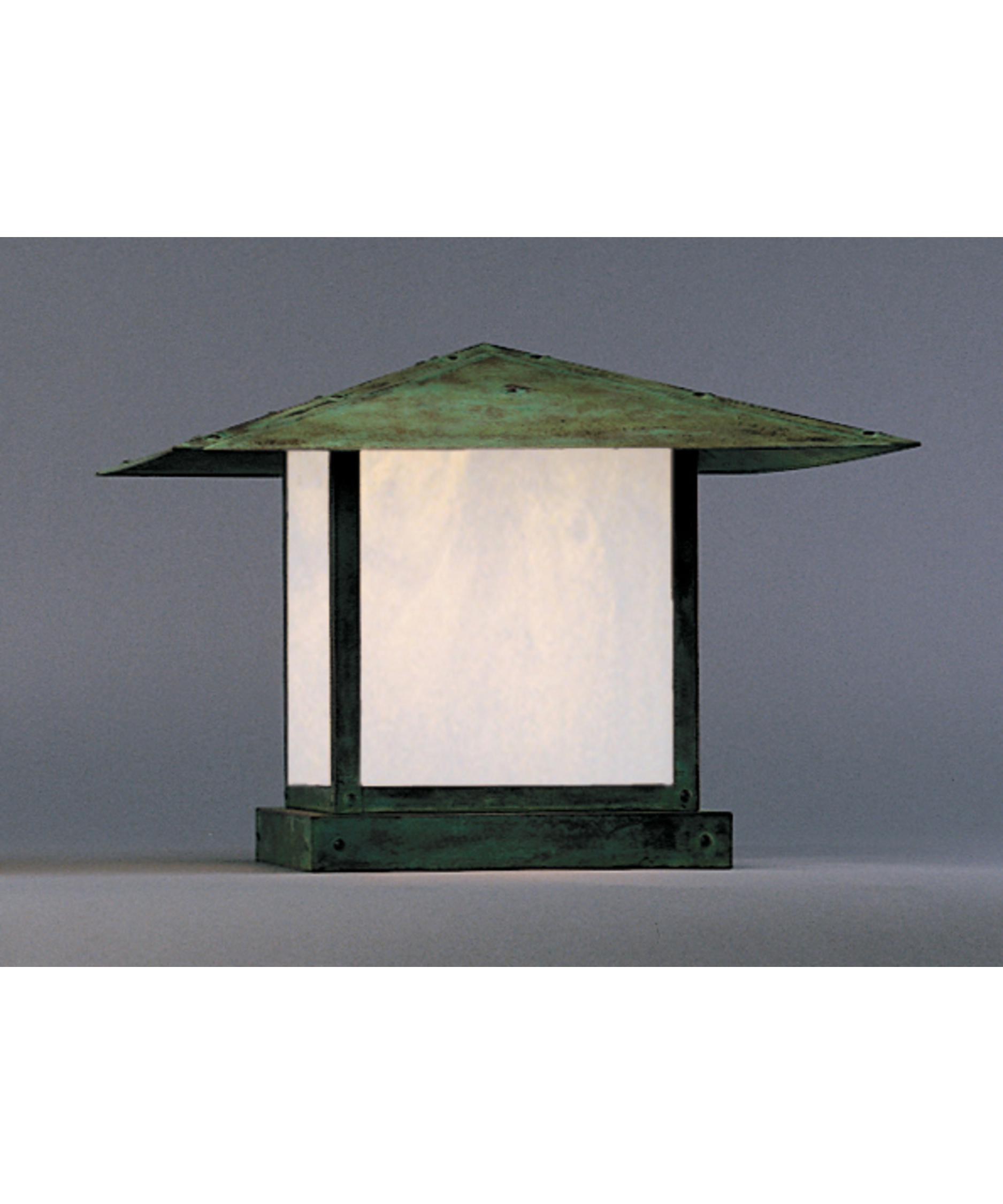 Shown In Verdigris Patina Finish White Opalescent Glass And None Accent