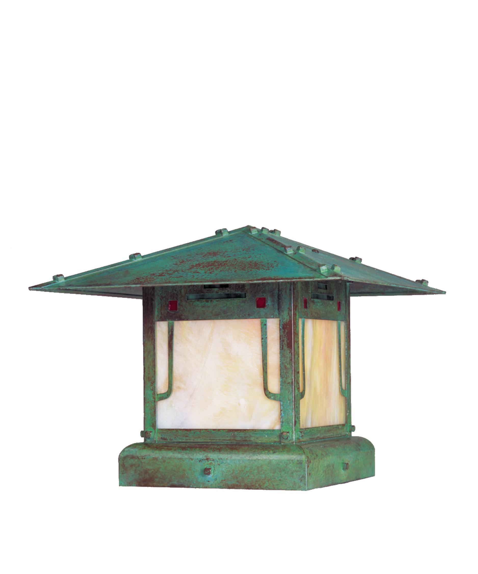 Arroyo Craftsman Pdc 17 Pagoda 1 Light Outdoor Pier Lamp Capitol Lighting 1 800lighting Com