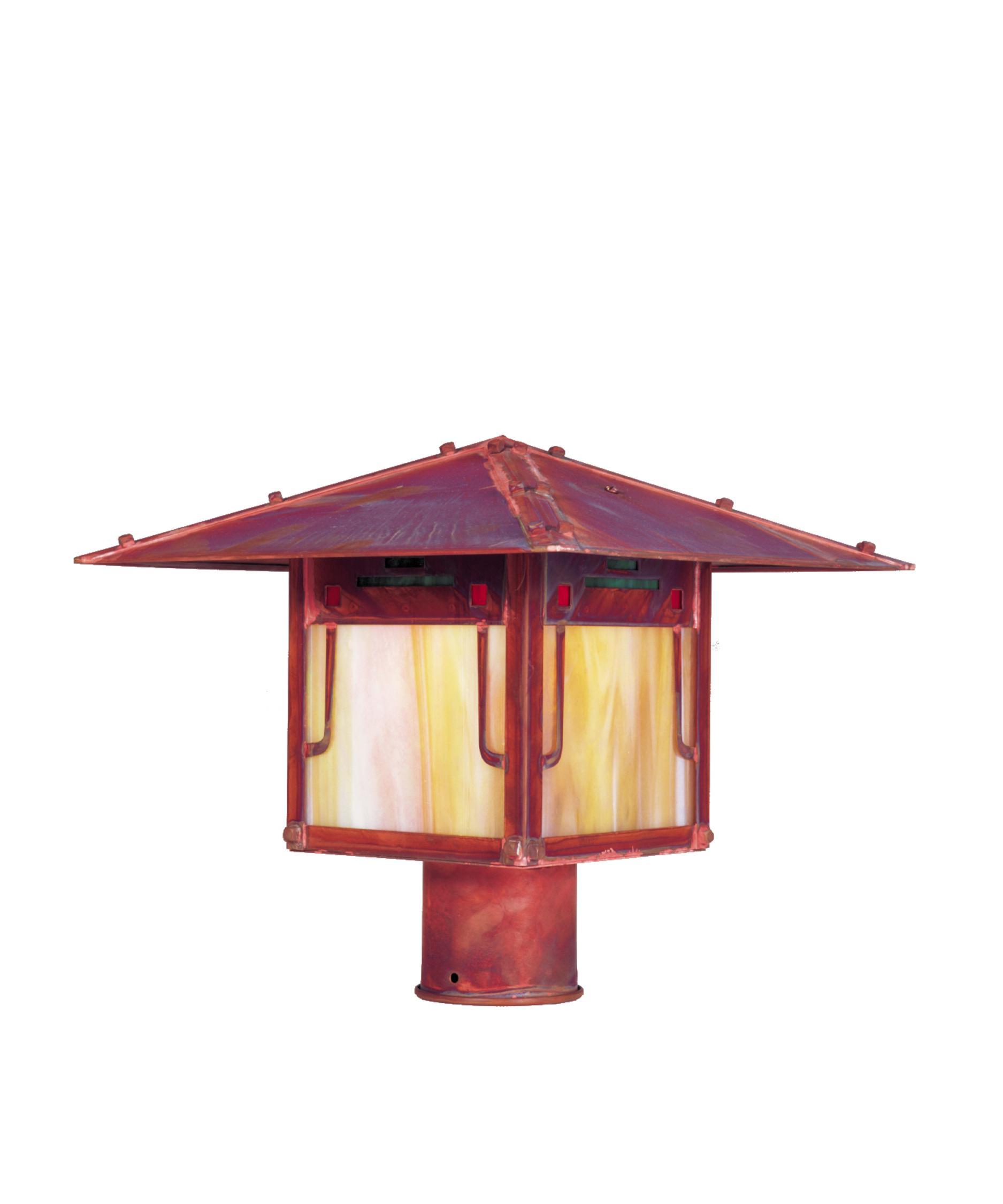Landscape Lighting Gillette Nj: Arroyo Craftsman PDP-17 Pagoda 1 Light Outdoor Post Lamp