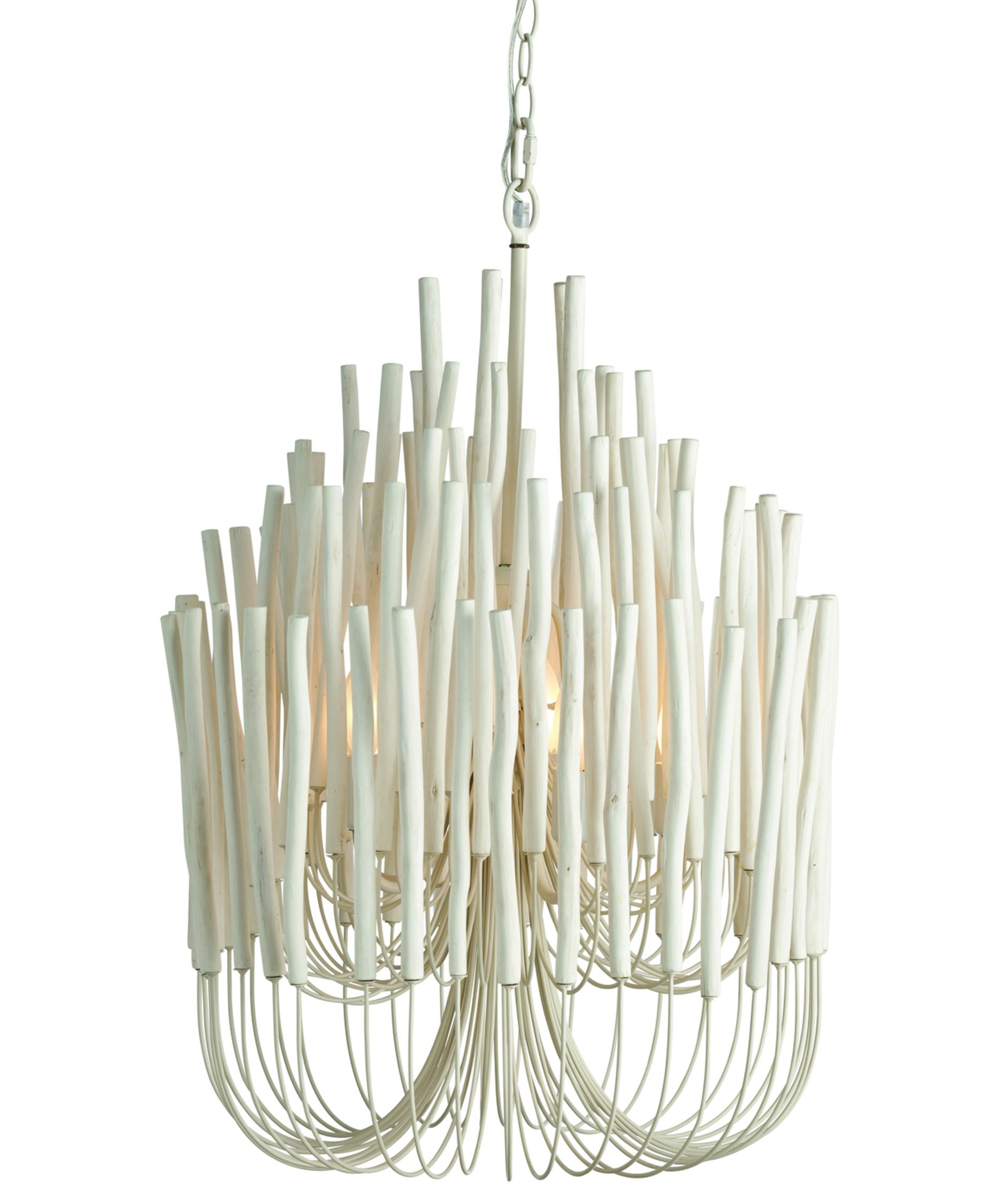 arteriors home  tilda  inch wide  light large pendant  - shown in whitewashed wood finish