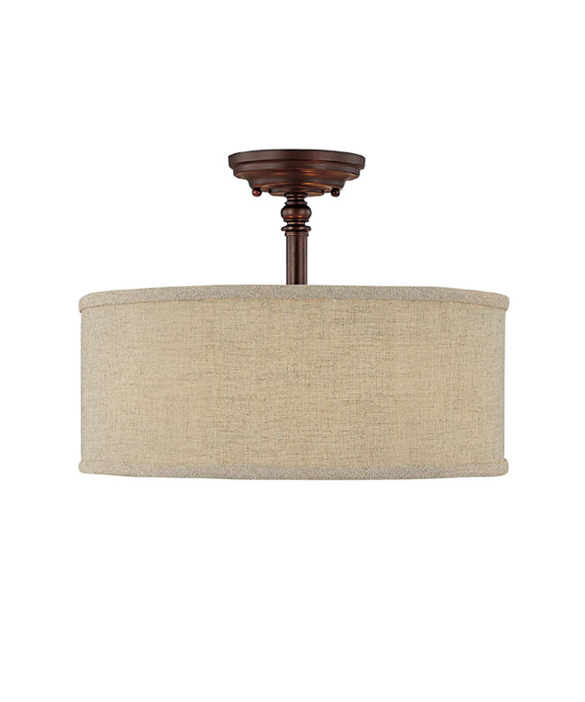 capital lighting loft 15 inch wide semi flush mount capitol lighting - Capital Lighting