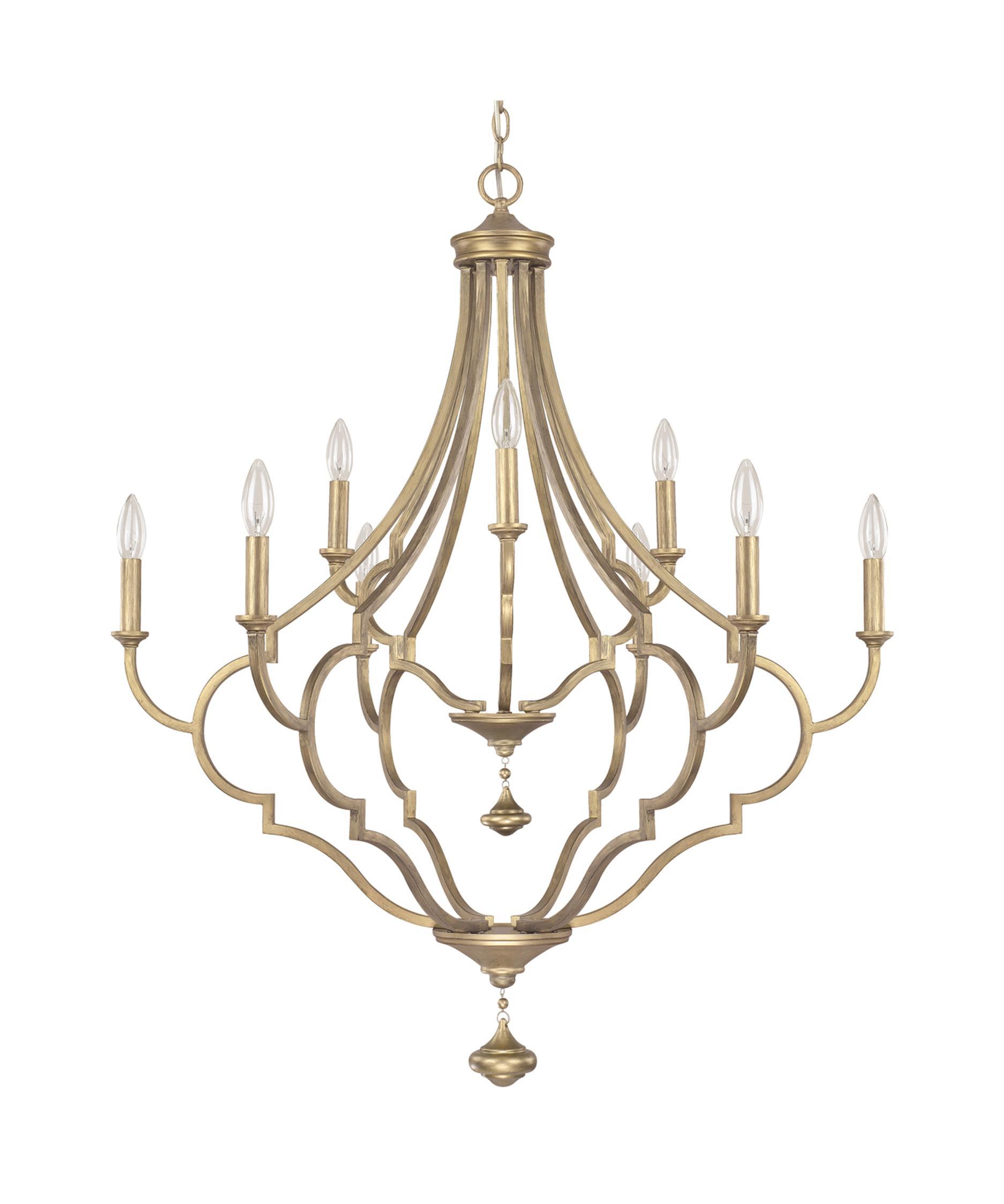 quinn 34 inch wide 9 light chandelier capital lighting soho