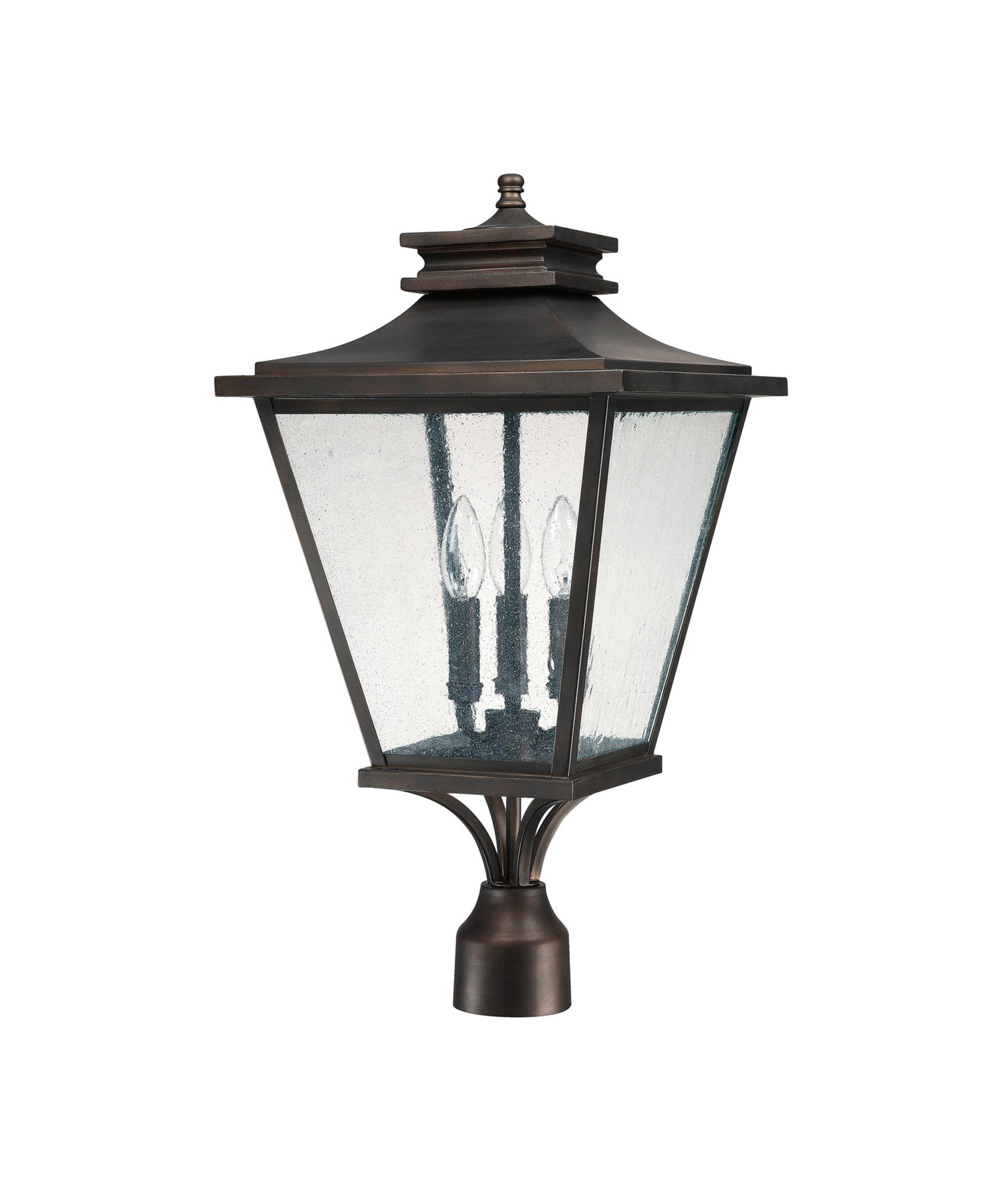 Capital Lighting 9466 Gentry 12 Inch Wide 3 Light Outdoor Post Lamp    Capitol Lighting 1 800lighting.com