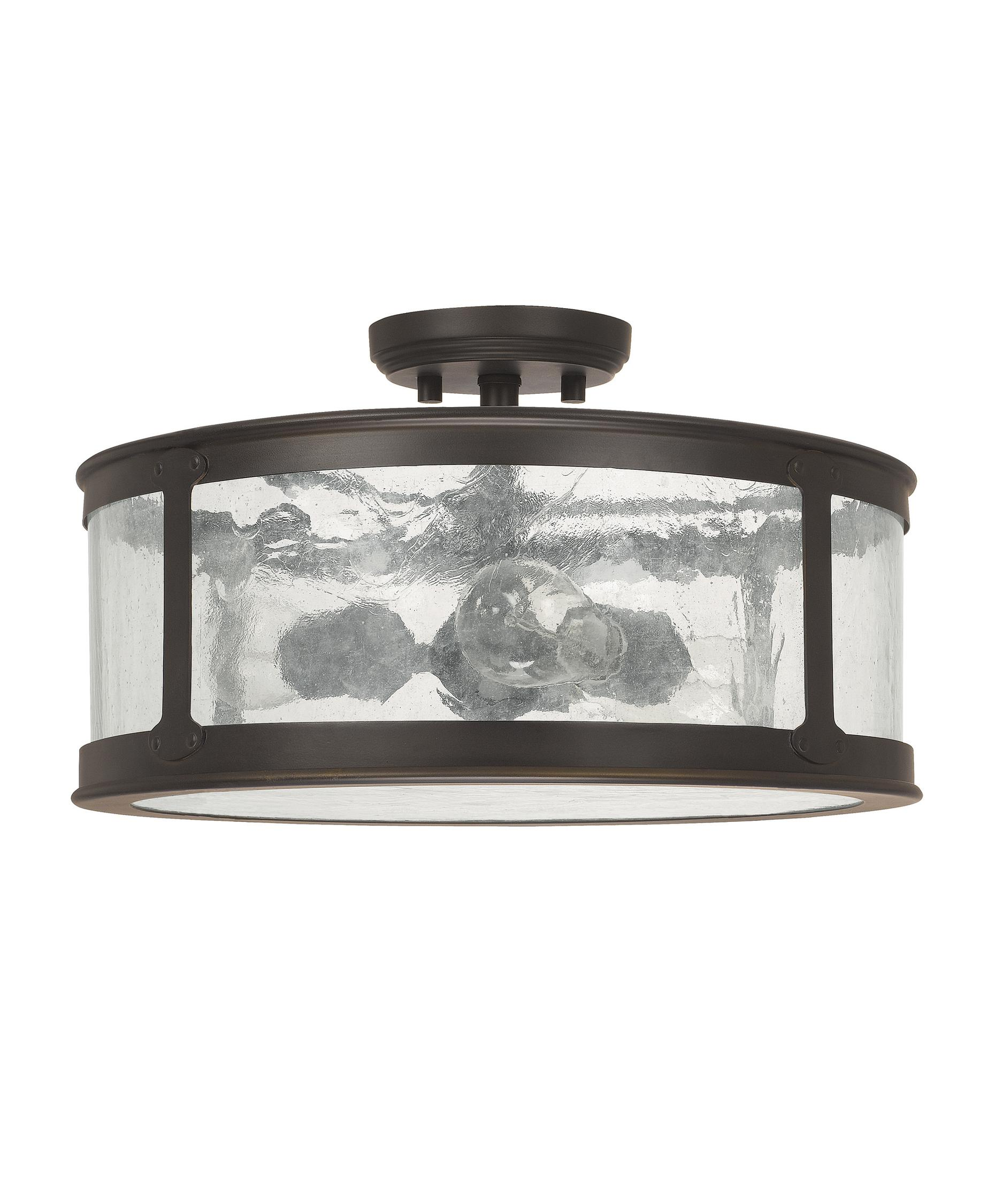 shown in old bronze finish and antique clear glass - Capital Lighting