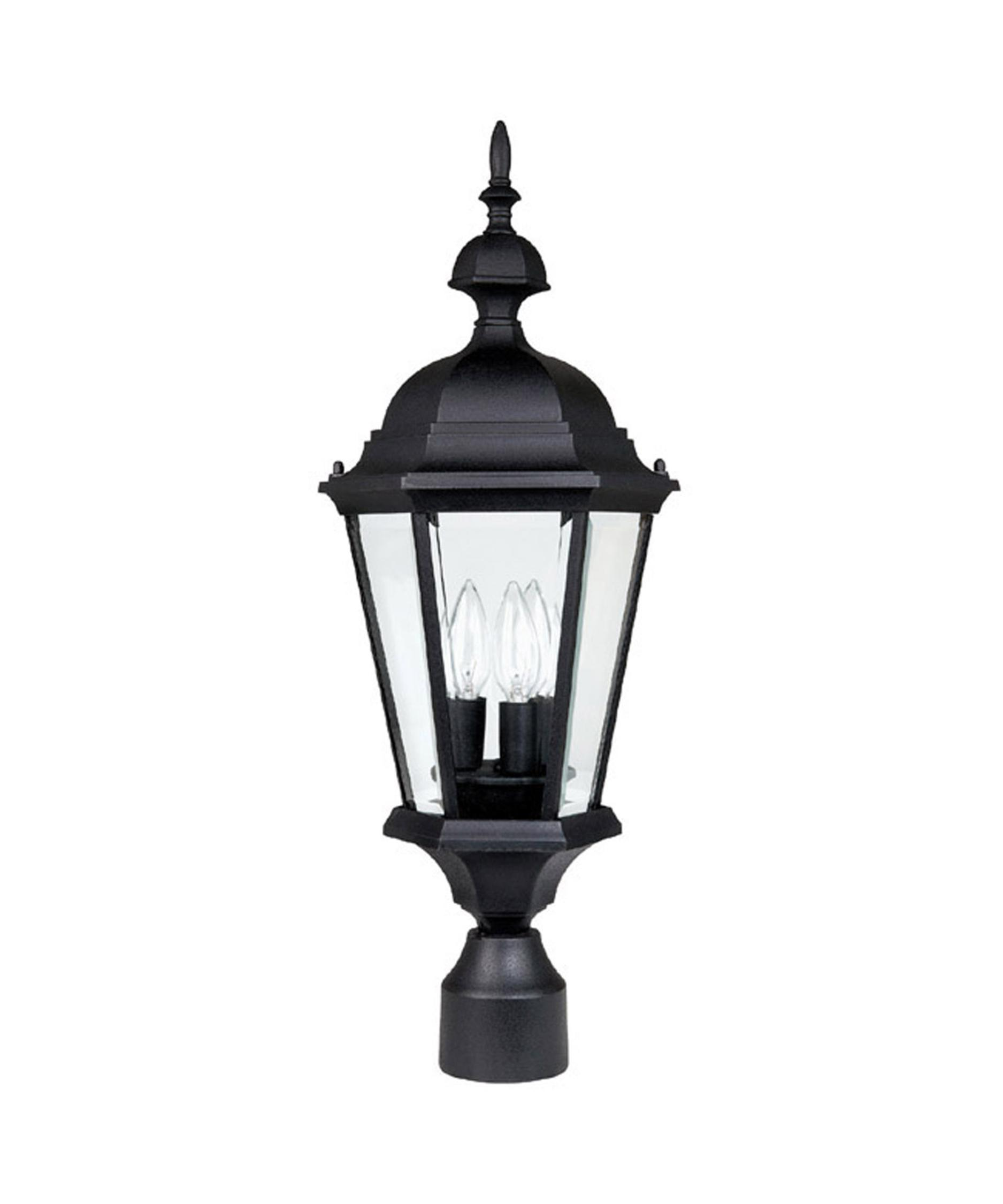 Capital Lighting 9725 Carriage House 10 Inch Wide 3 Light Outdoor Post Lamp  | Capitol Lighting 1 800lighting.com