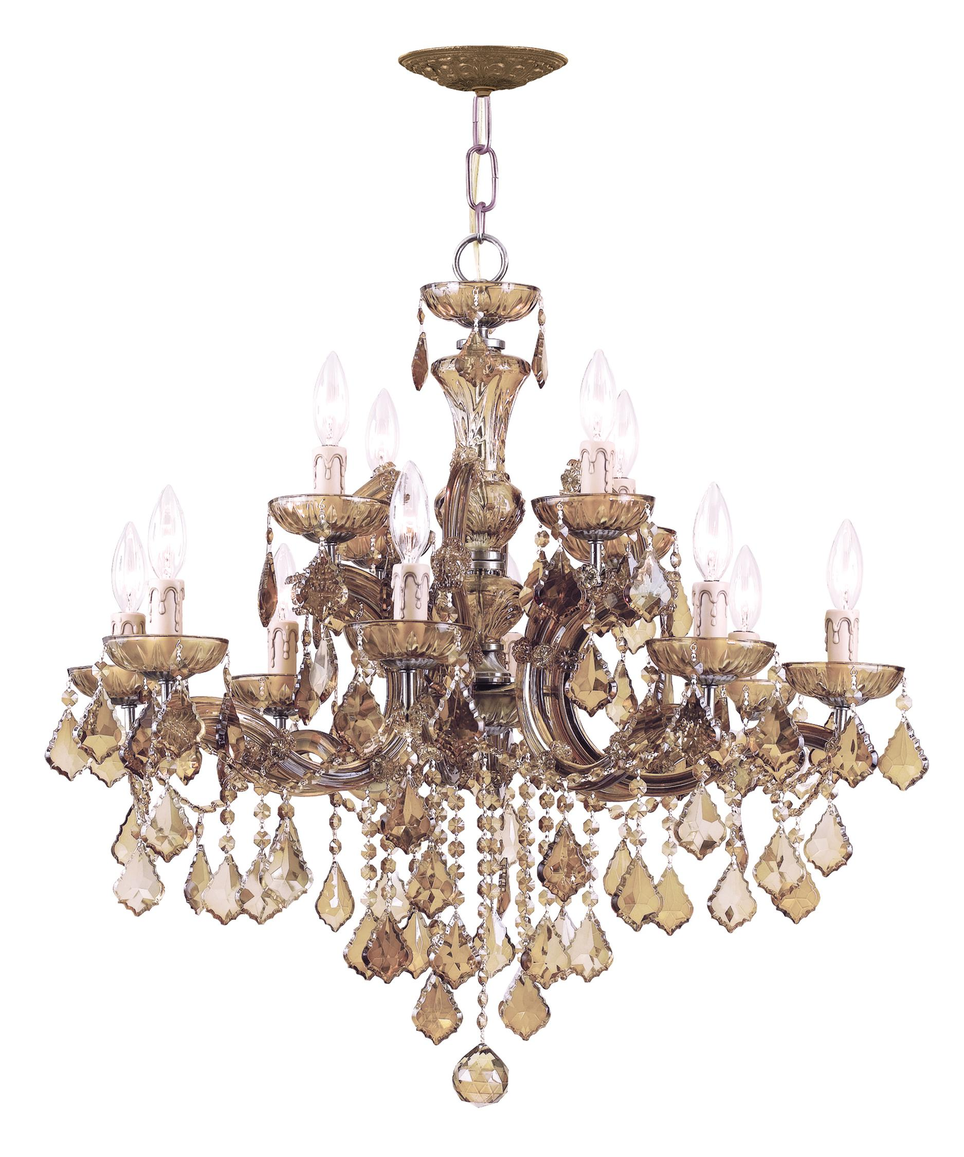 Crystorama Maria Theresa 30 Inch Wide 12 Light Chandelier – Crystorama Chandeliers
