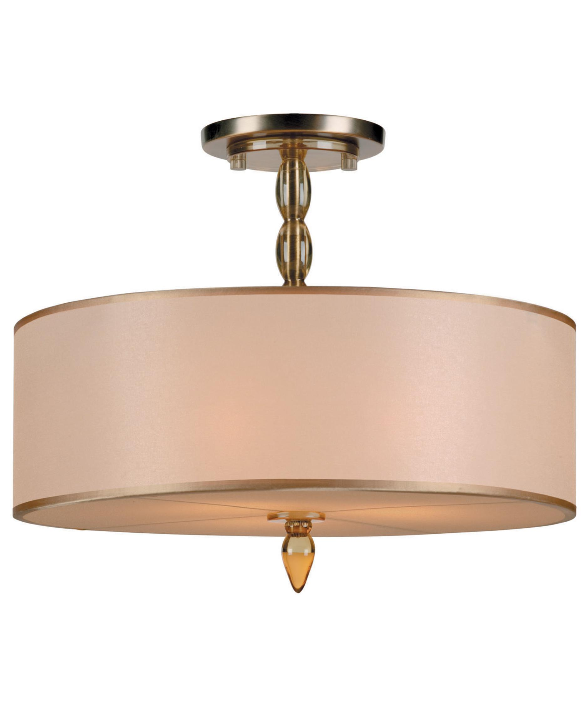 crystorama 9505 luxo 18 inch wide semi flush mount | capitol