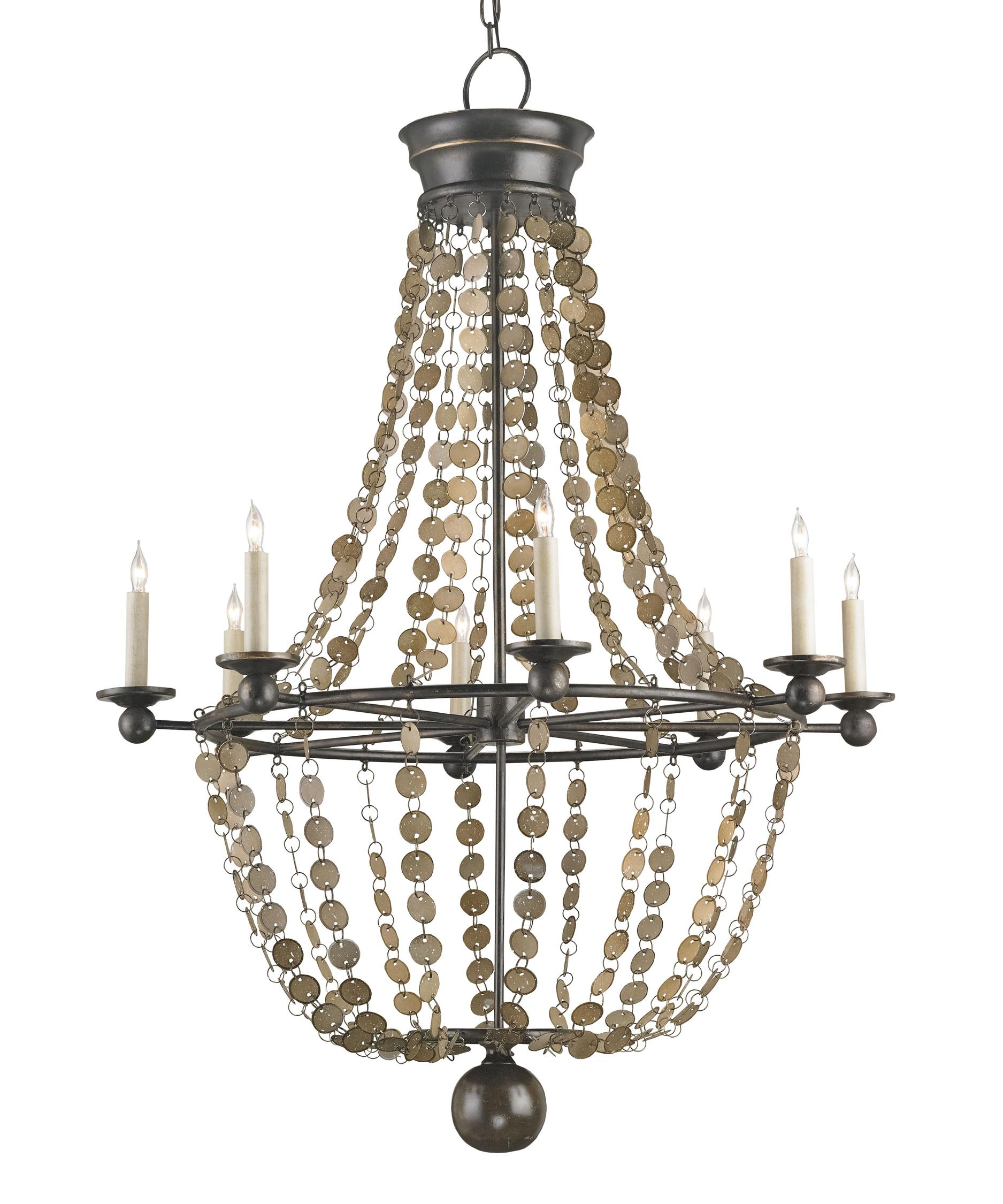 Currey and Company Creswell 32 Inch Wide 8 Light Chandelier – Currey and Company Lighting Chandeliers