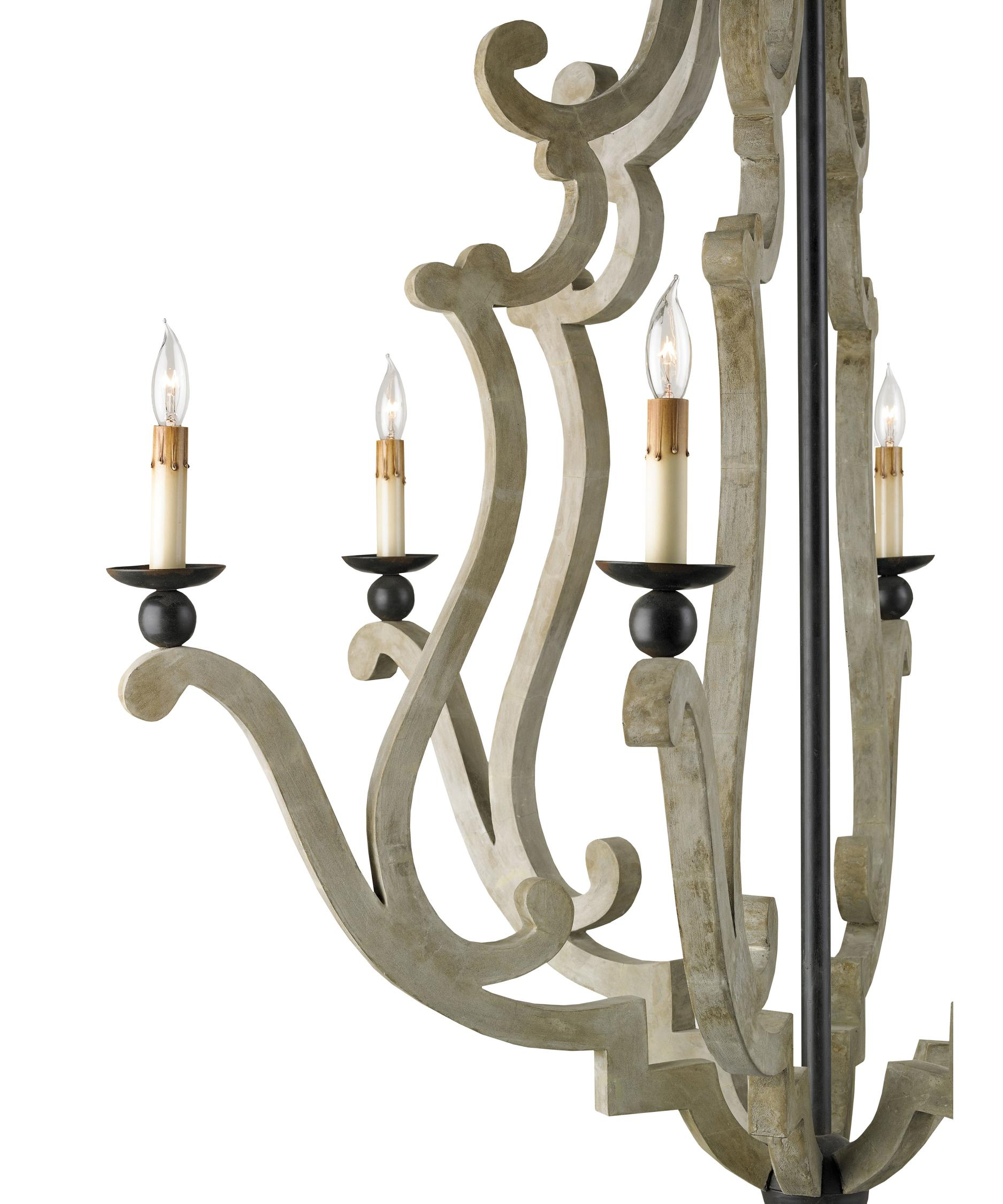 Currey and Company Durand 38 Inch Wide 6 Light Chandelier – Currey and Company Lighting Chandeliers