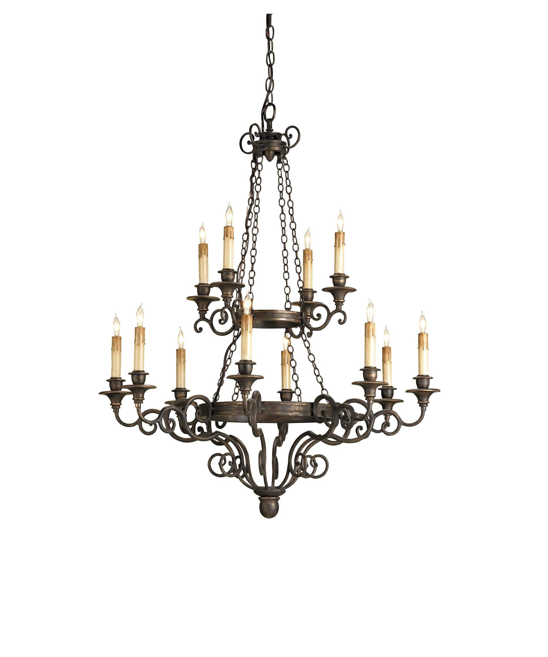 Currey and Company Galleon 33 Inch Wide 12 Light Chandelier – Currey and Company Lighting Chandeliers