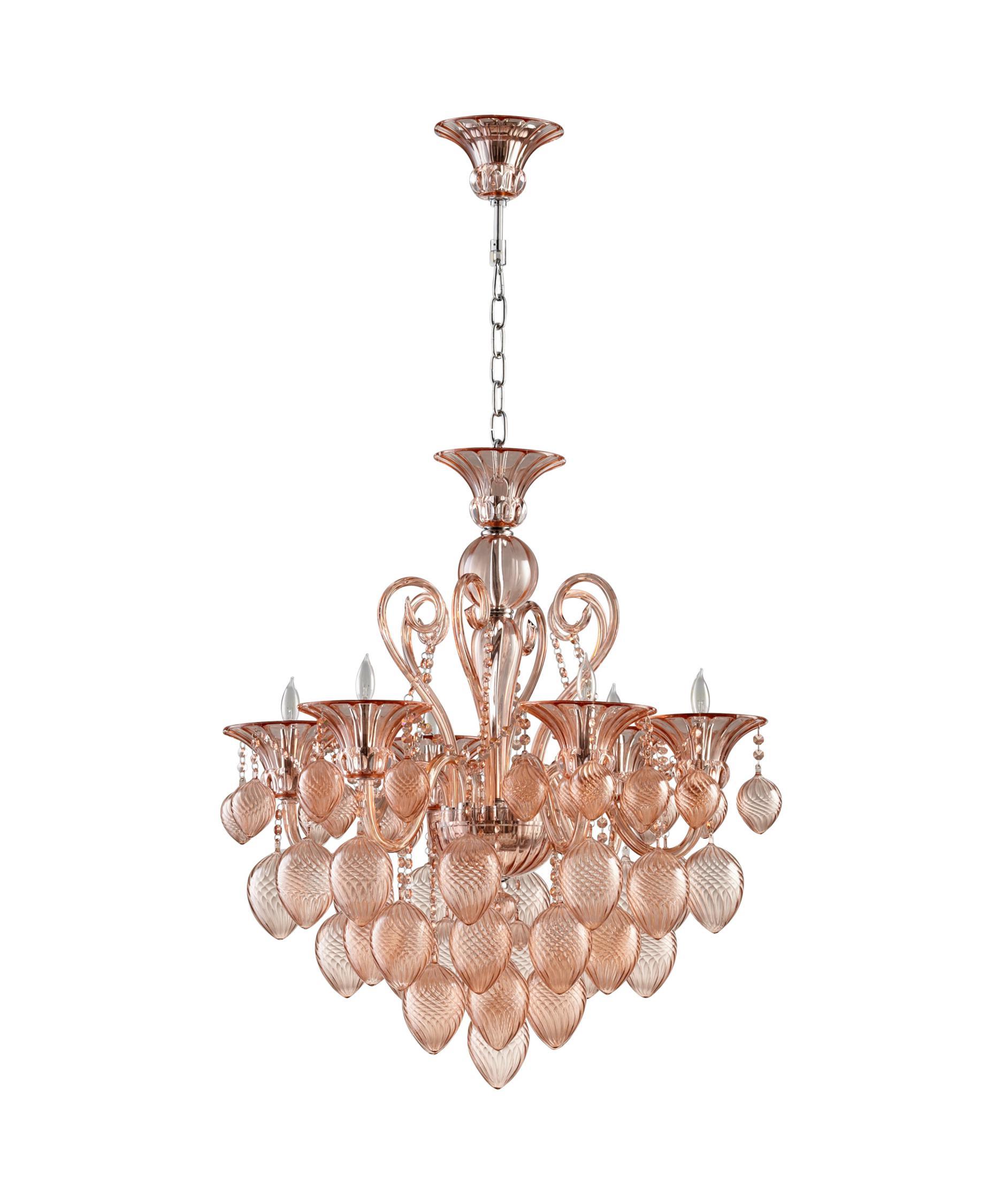 cyan design 05503 bella vetro chandelier | capitol lighting 1