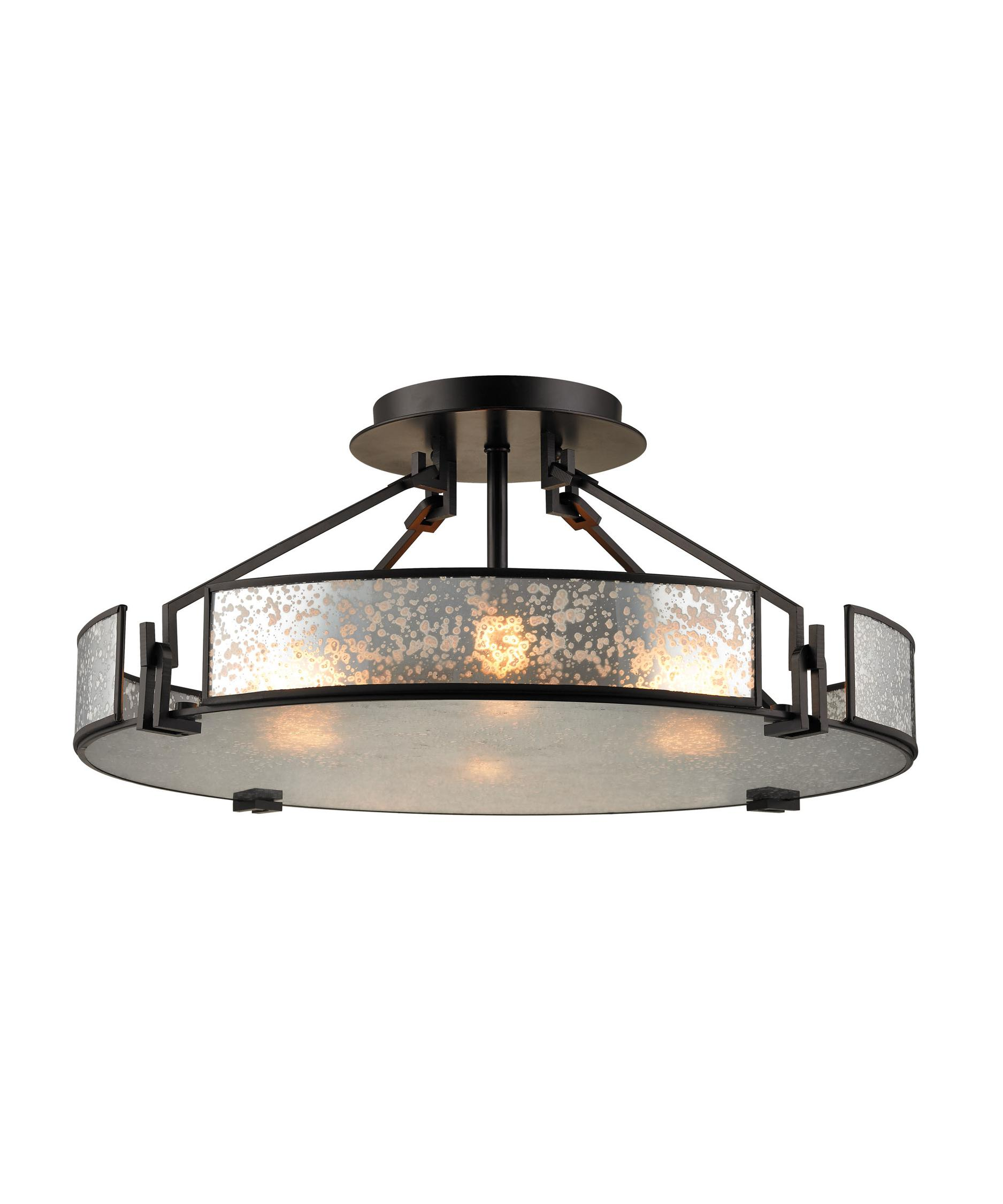 elk lighting 57091-4 lindhurst 21 inch wide semi flush mount