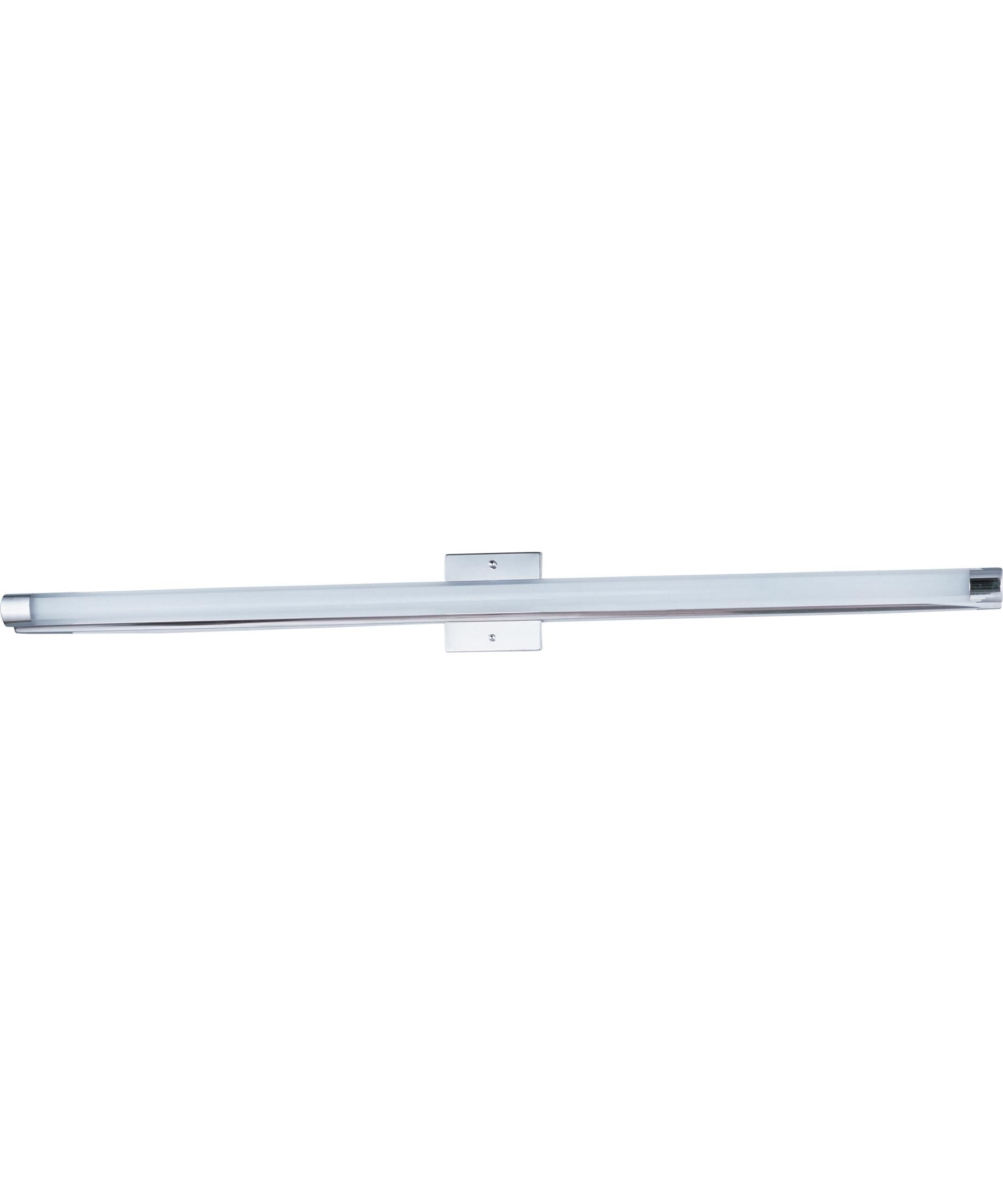 Led Bathroom Vanity Light: Shown in Polished Chrome finish and Clear White glass,Lighting