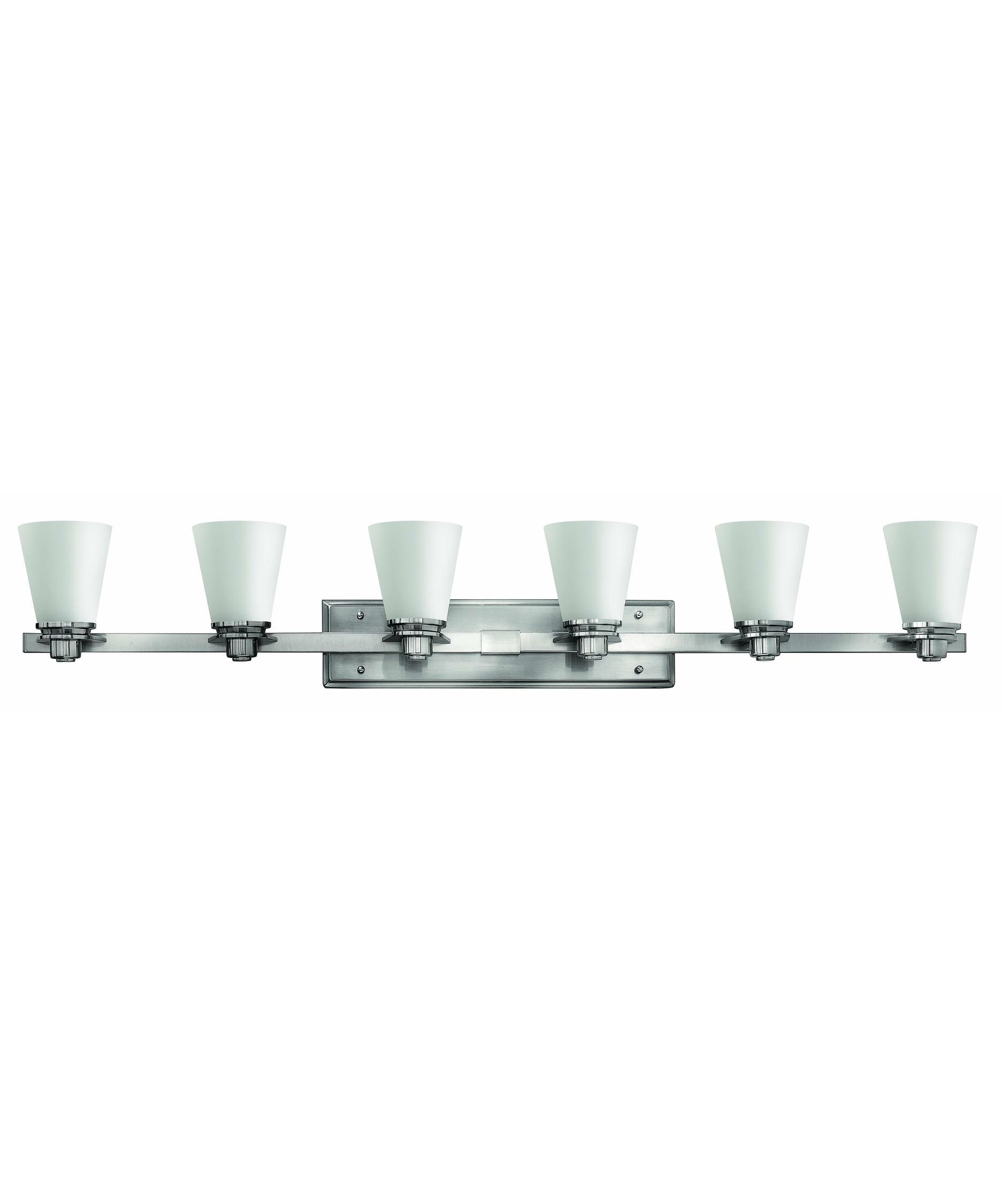 Bathroom Light Fixtures Brushed Nickel 48 Inches hinkley lighting 5556 avon 48 inch wide bath vanity light