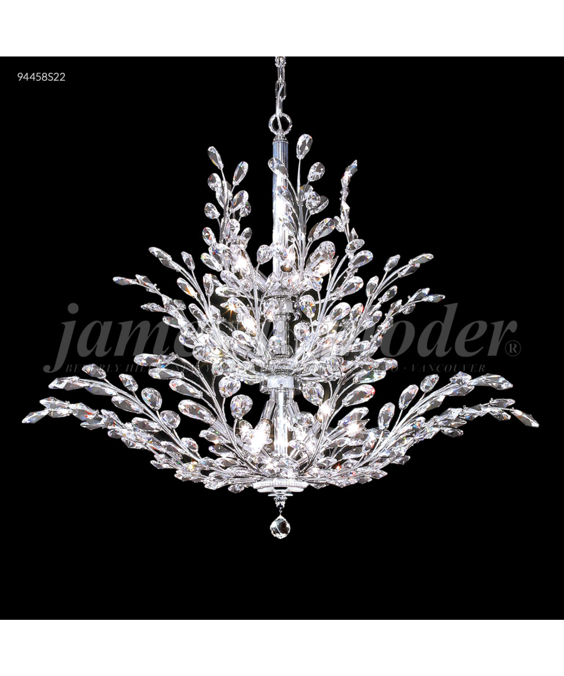 moder lighting. shown in silver finish and imperial clear crystal moder lighting