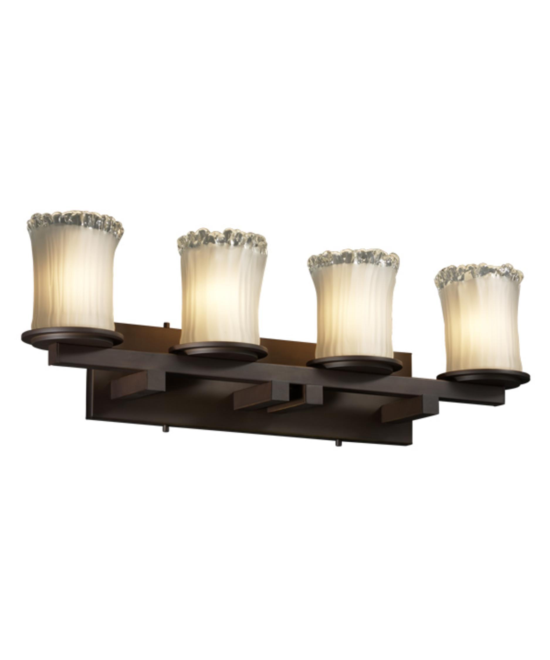 Justice Design Group GLA 8774 Veneto Luce Dakota 29 Inch Bath Vanity Light