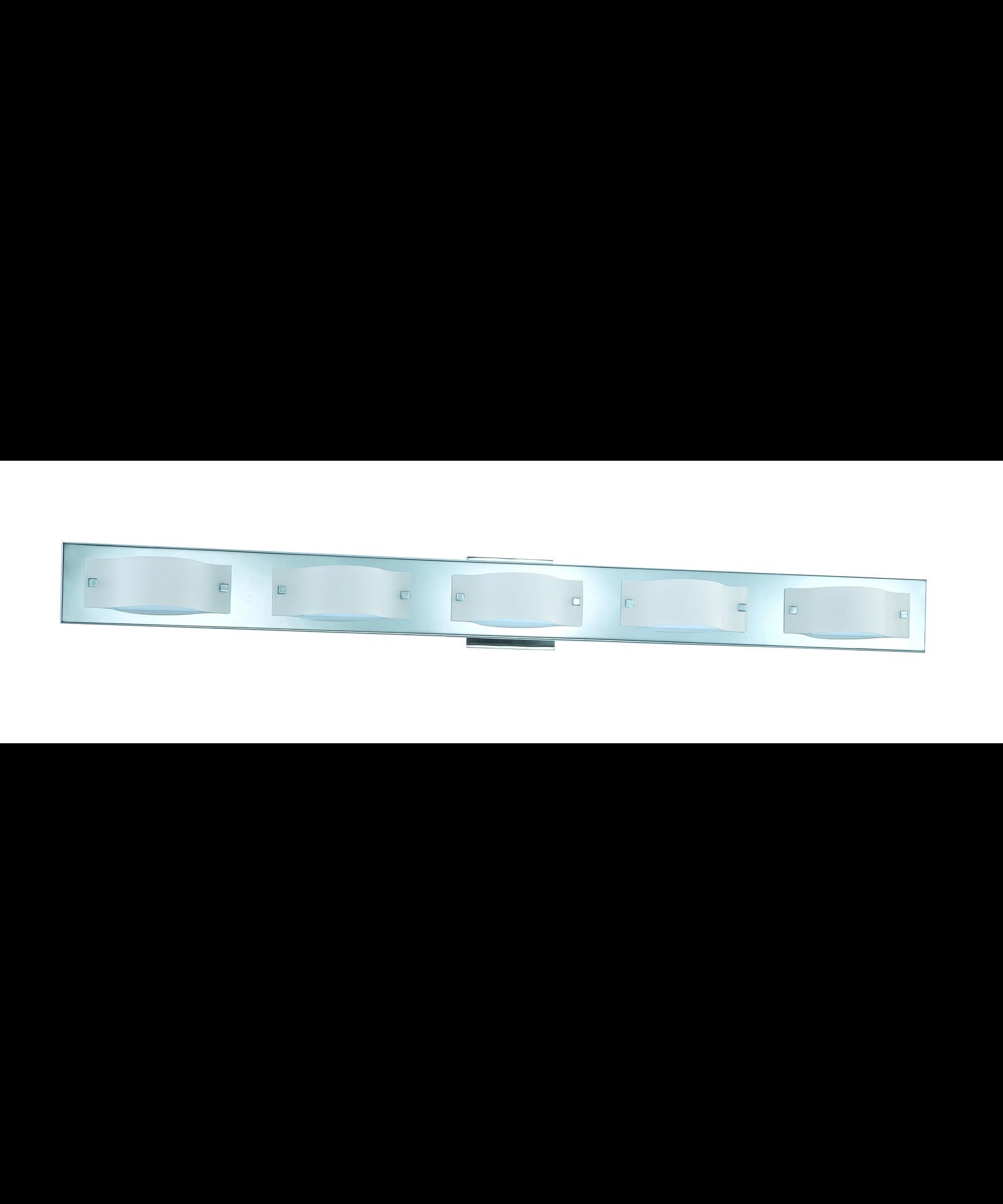 Kendal Lighting VF3600 5L Mini Wave 50 Inch Bath Vanity Light