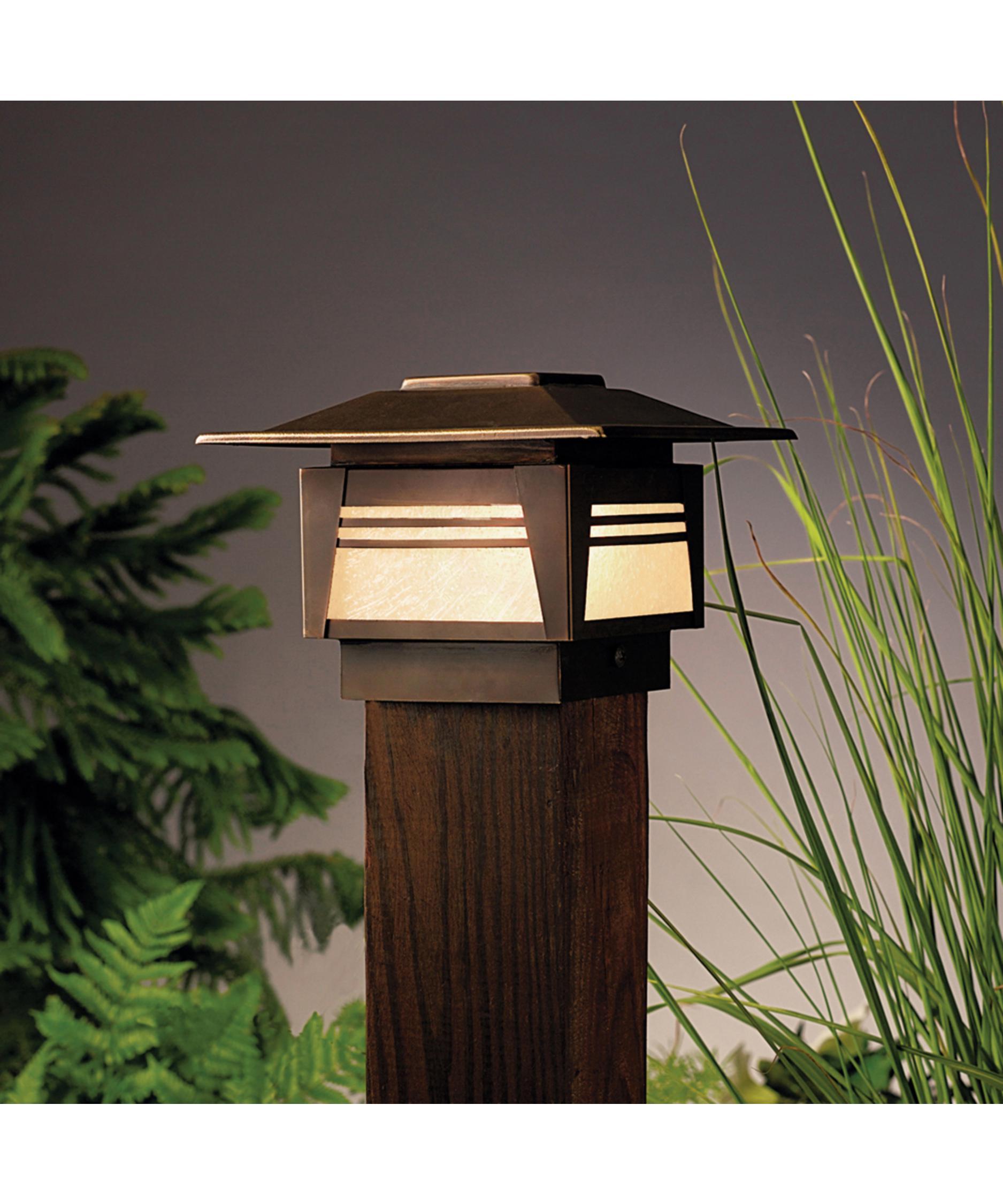 Outdoor lamp post ideas - Kichler 15071 Zen Garden 1 Light Outdoor Pier Lamp Capitol