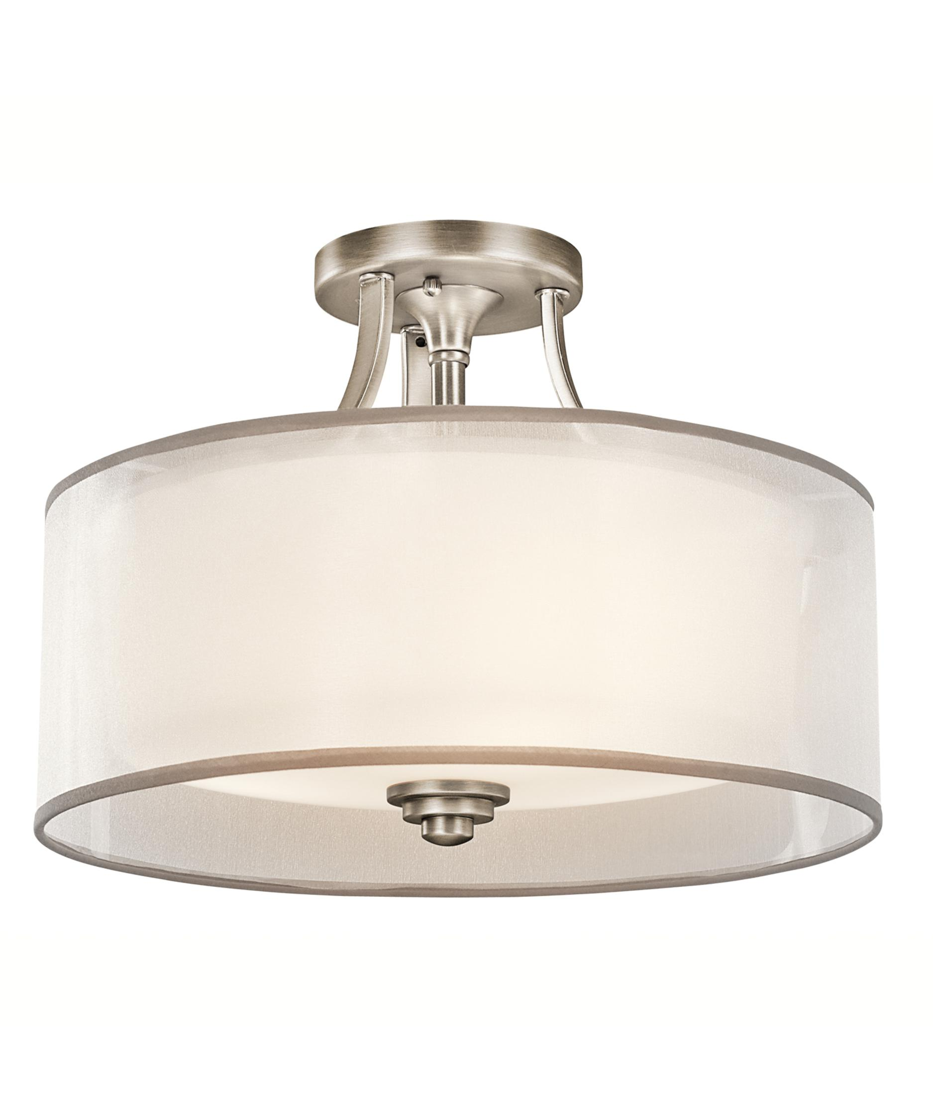 Kichler Lighting Kitchen Lighting Kichler Lacey 15 Inch Wide Semi Flush Mount Capitol Lighting 1