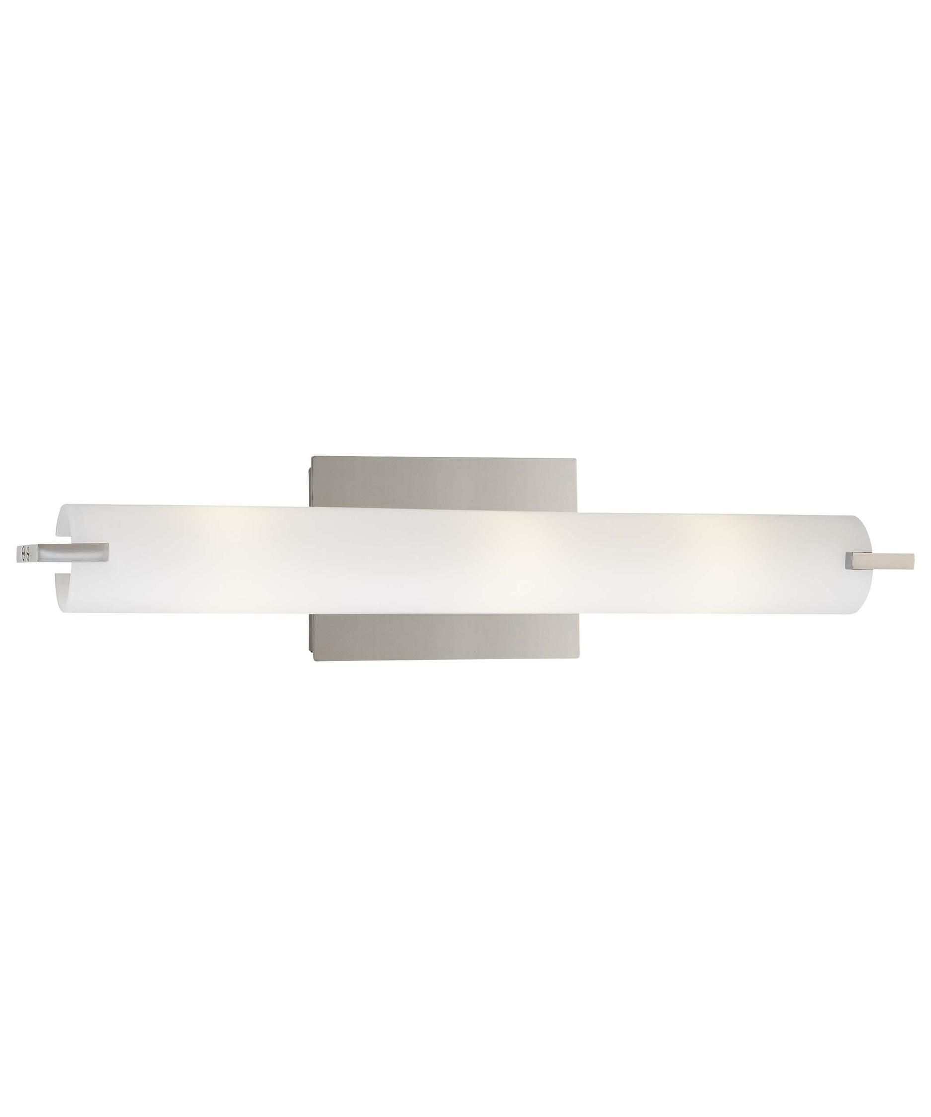 kovacs p tubes  inch wide bath vanity light  capitol  - shown in chrome finish and etched opal glass
