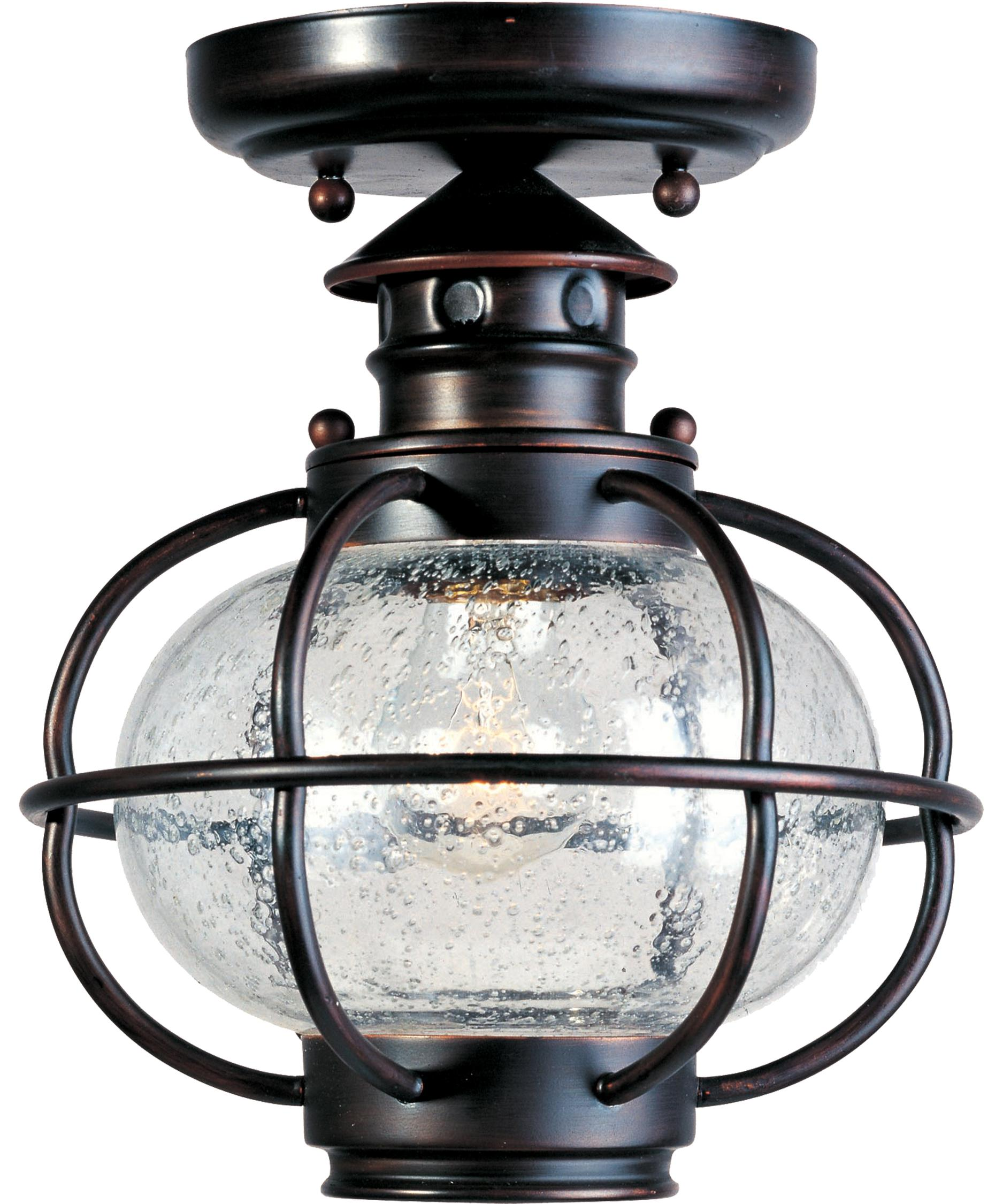 Exceptional Shown In Oil Rubbed Bronze Finish And Seedy Glass