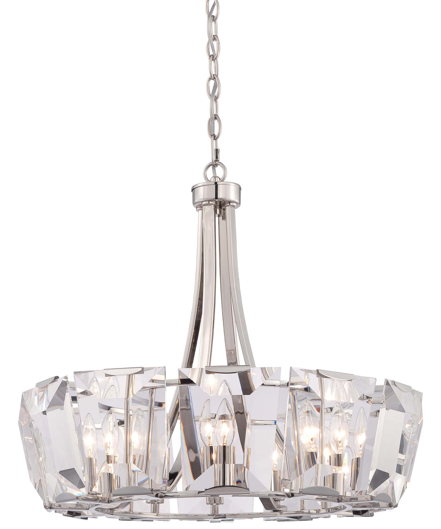 Polished nickel chandelier