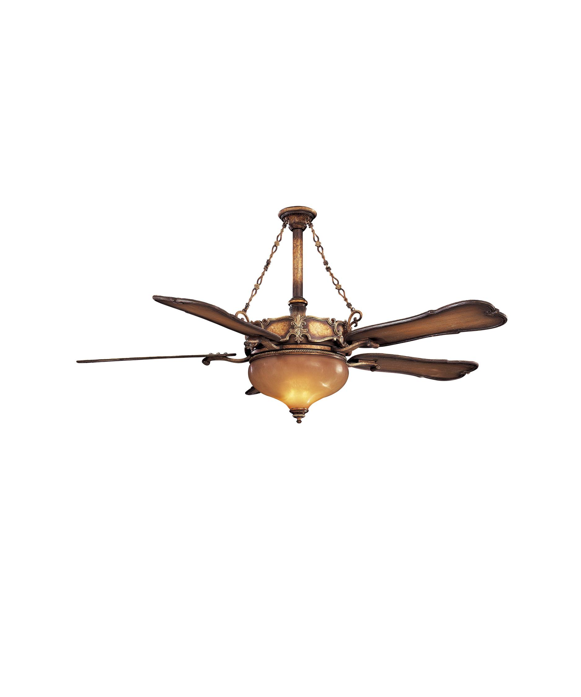 shown in arles gold finish and amber dawn glass - Minka Ceiling Fans