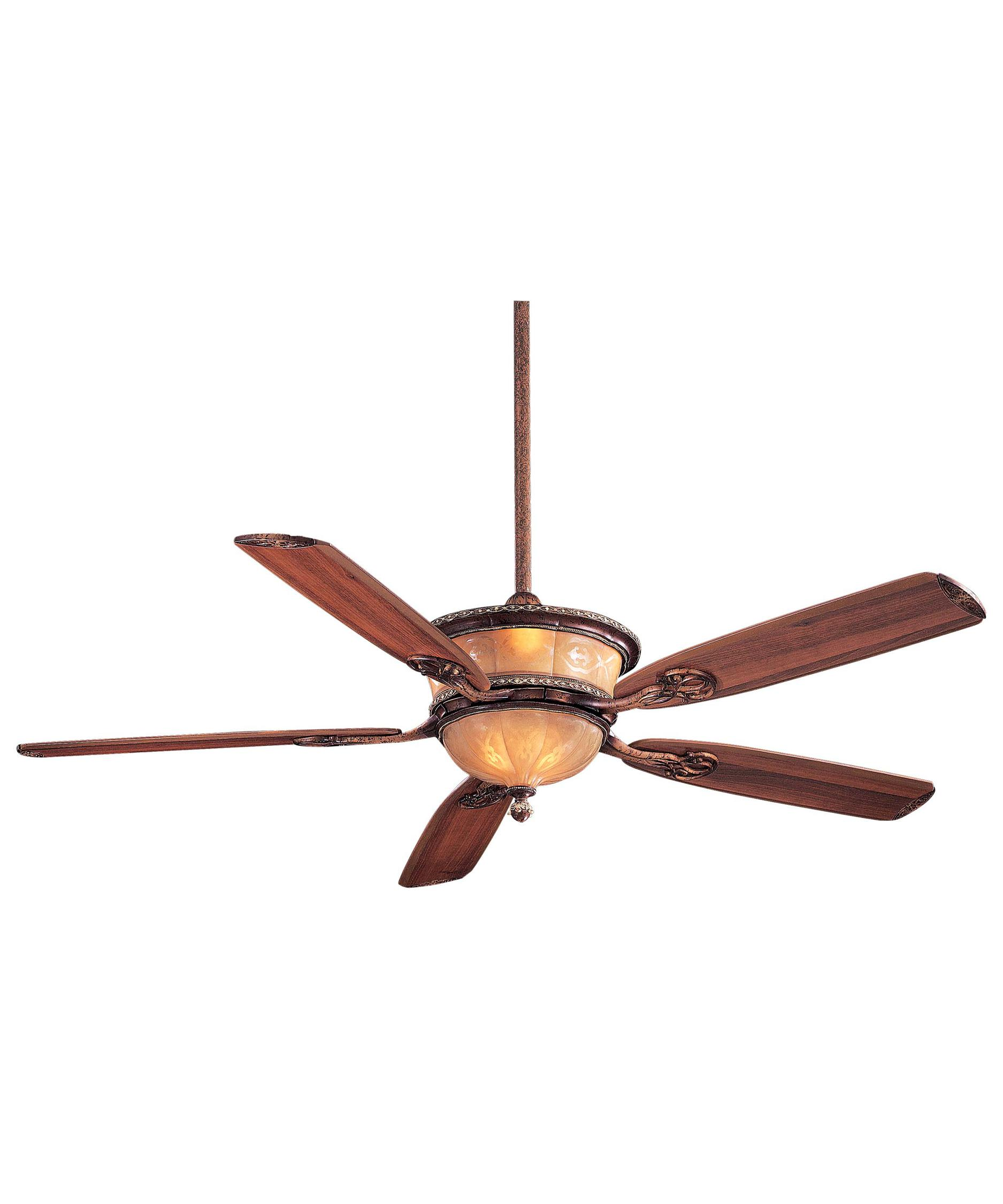 Minka Aire Santa Lucia 64 Inch 5 Blade Ceiling Fan | Capitol ...:Shown in Cattera Bronze finish and Cognac Fluted Etched glass,Lighting
