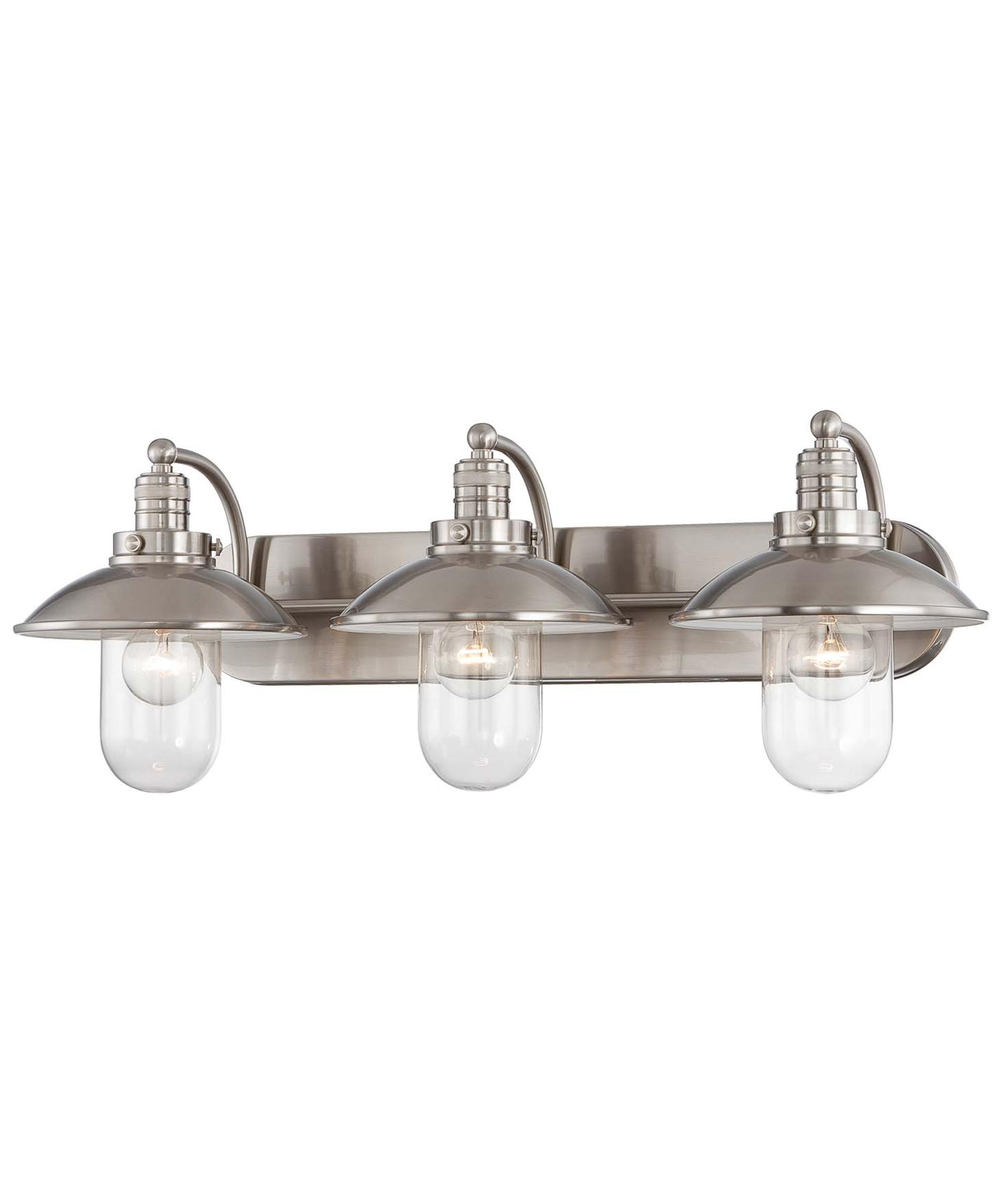 Bathroom vanity lights brushed nickel - Shown In Brushed Nickel Finish And Clear Glass