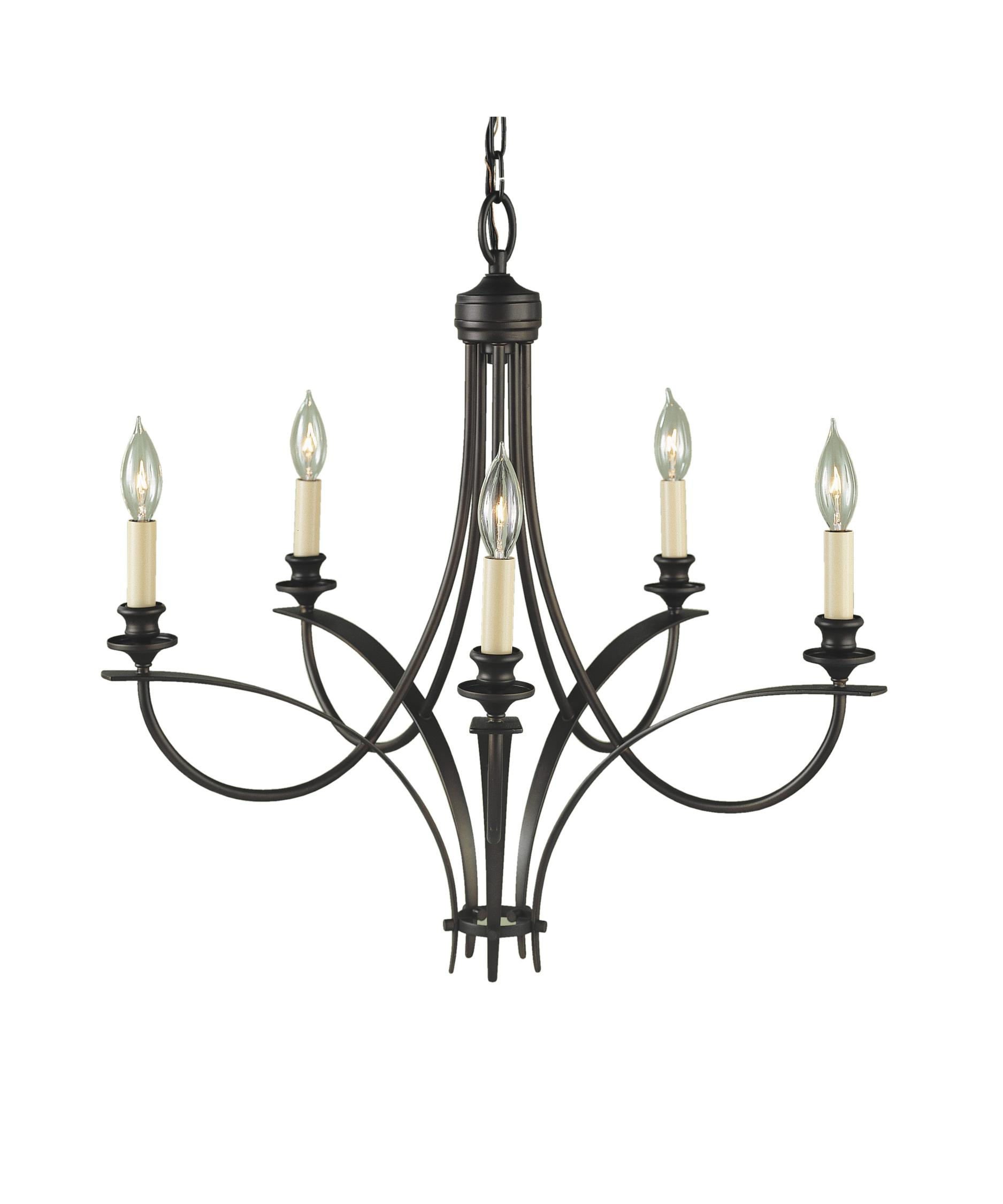 Murray Feiss Boulevard 26 Inch Wide 5 Light Chandelier – Murray Feiss Chandeliers