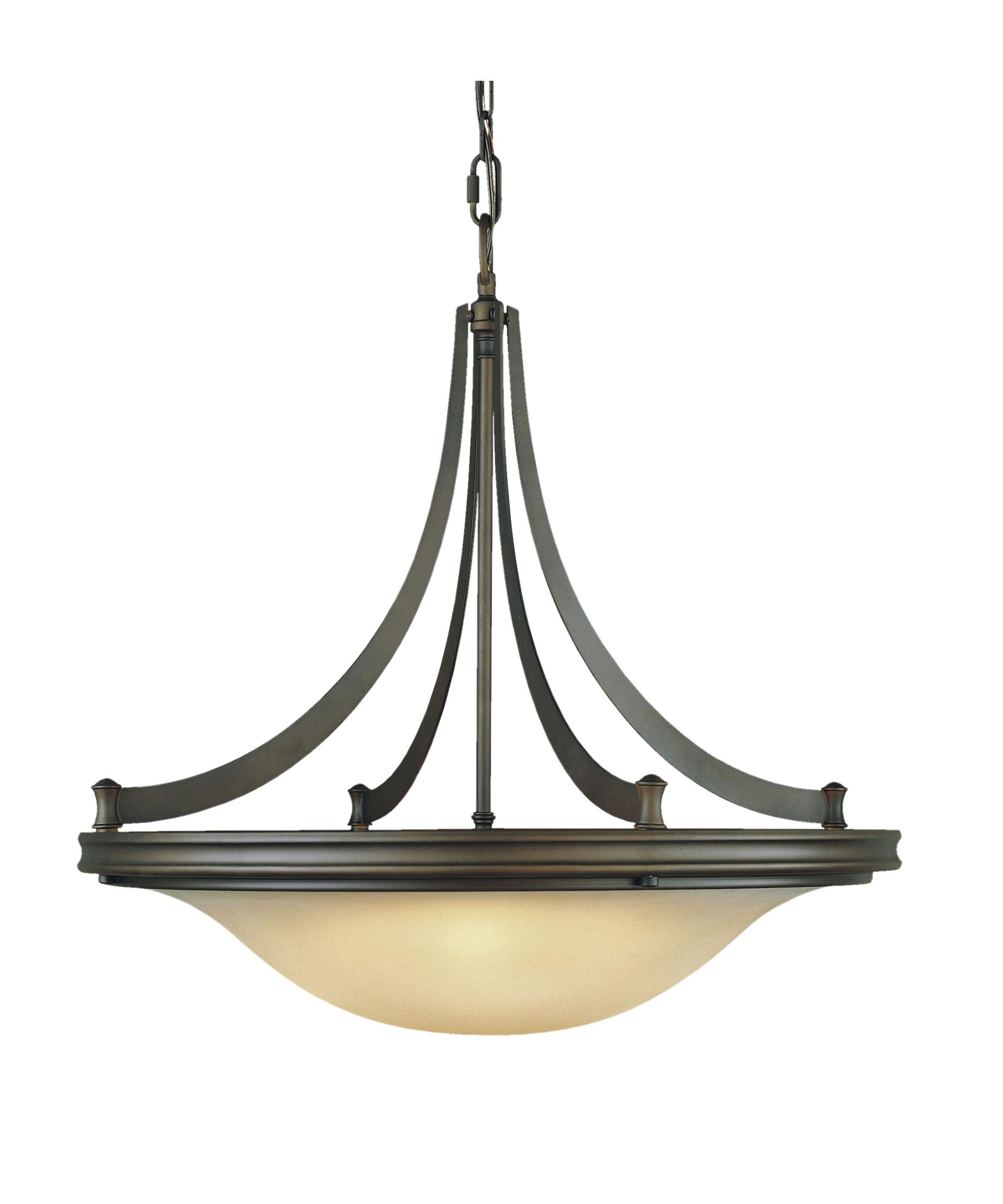 shown in oil rubbed bronze finish and frosted amber glass - Feiss Lighting