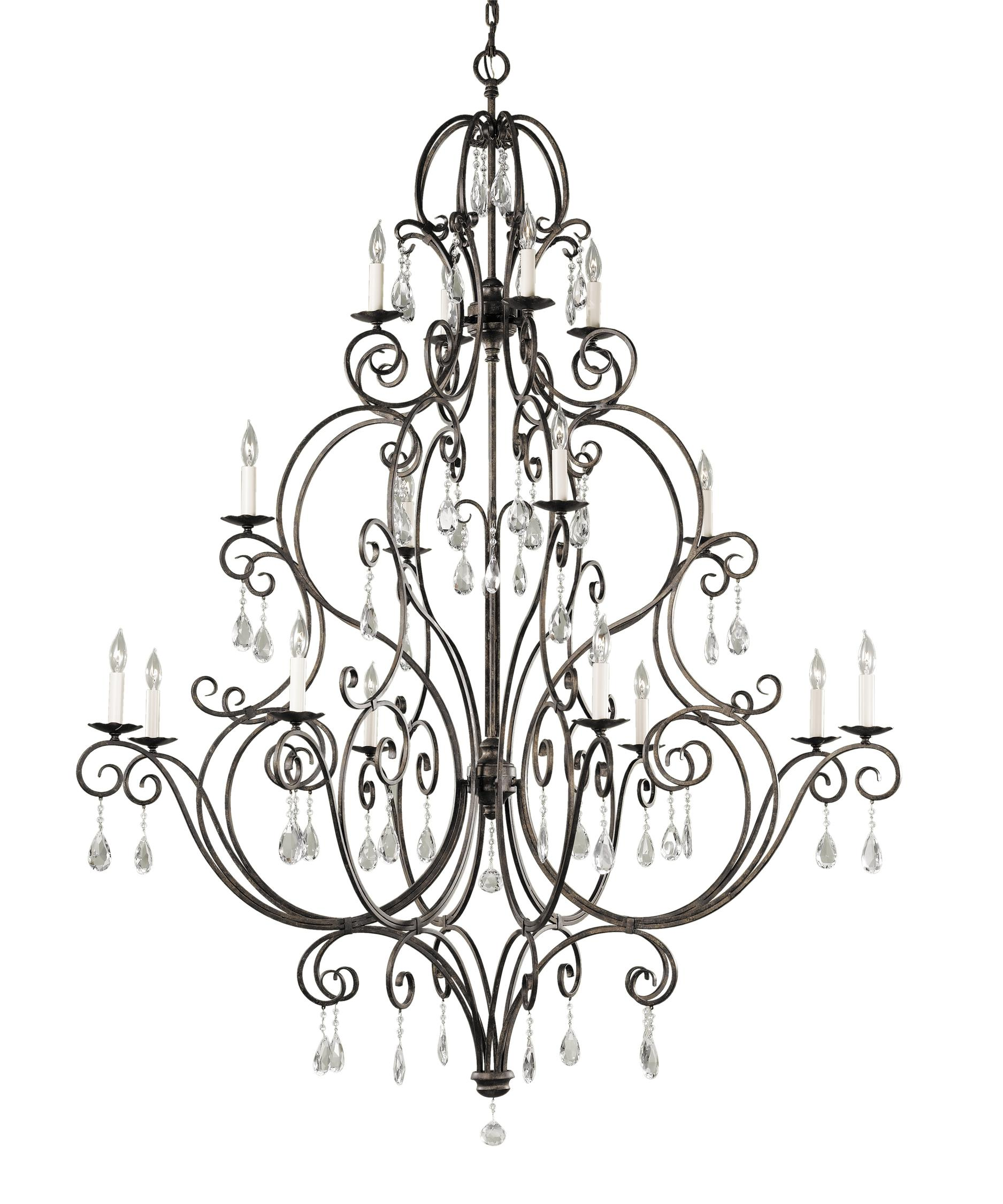 Murray Feiss Chateau 54 Inch Wide 16 Light Chandelier – Murray Feiss Chandeliers
