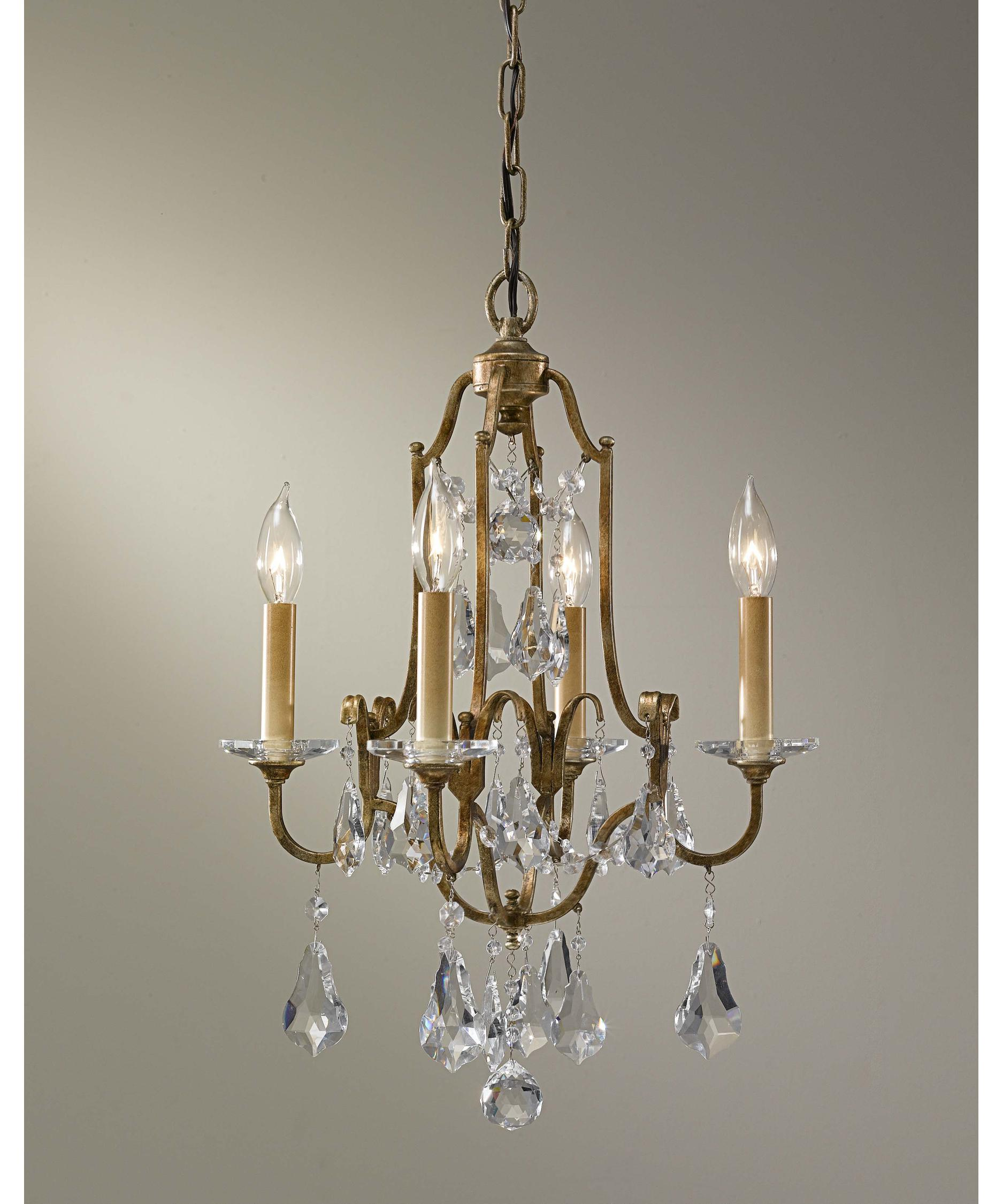 Murray Feiss Valentina 16 Inch Wide 4 Light Mini Chandelier – Murray Feiss Chandeliers
