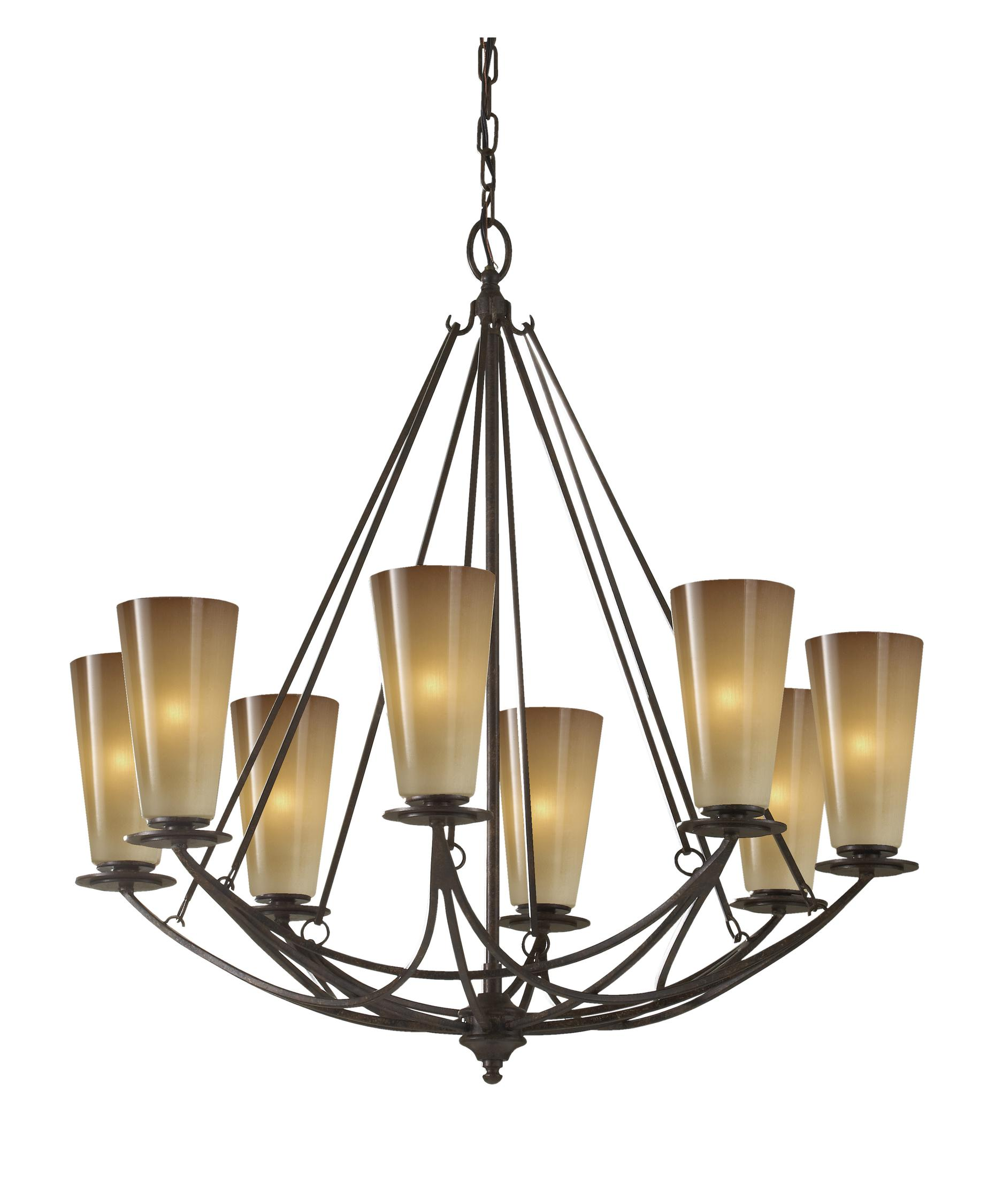 Murray Feiss El Nido 28 Inch Wide 8 Light Chandelier – Murray Feiss Chandeliers