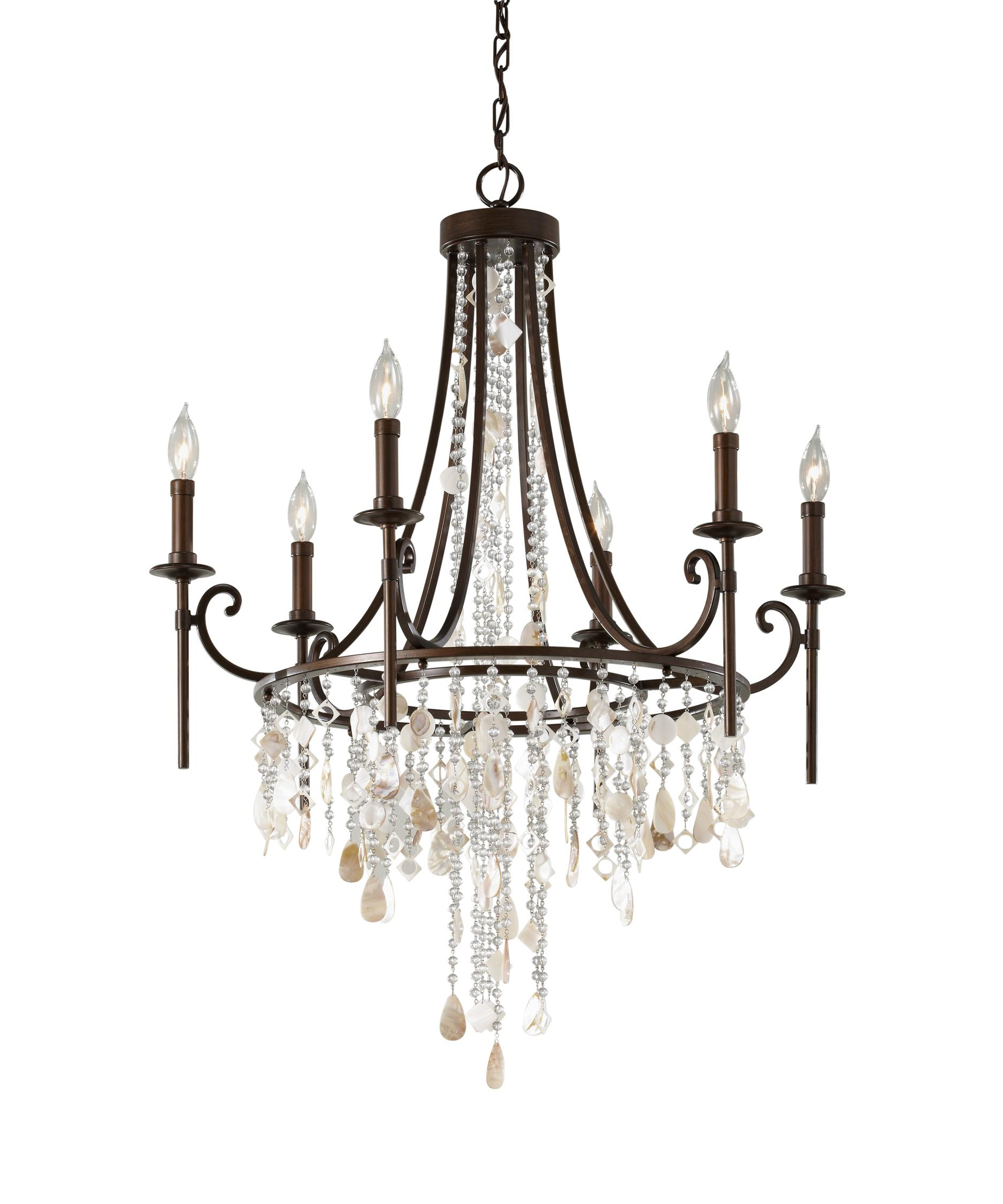 Murray Feiss Fusion Collection: Murray Feiss F2660-6 Cascade 28 Inch Chandelier