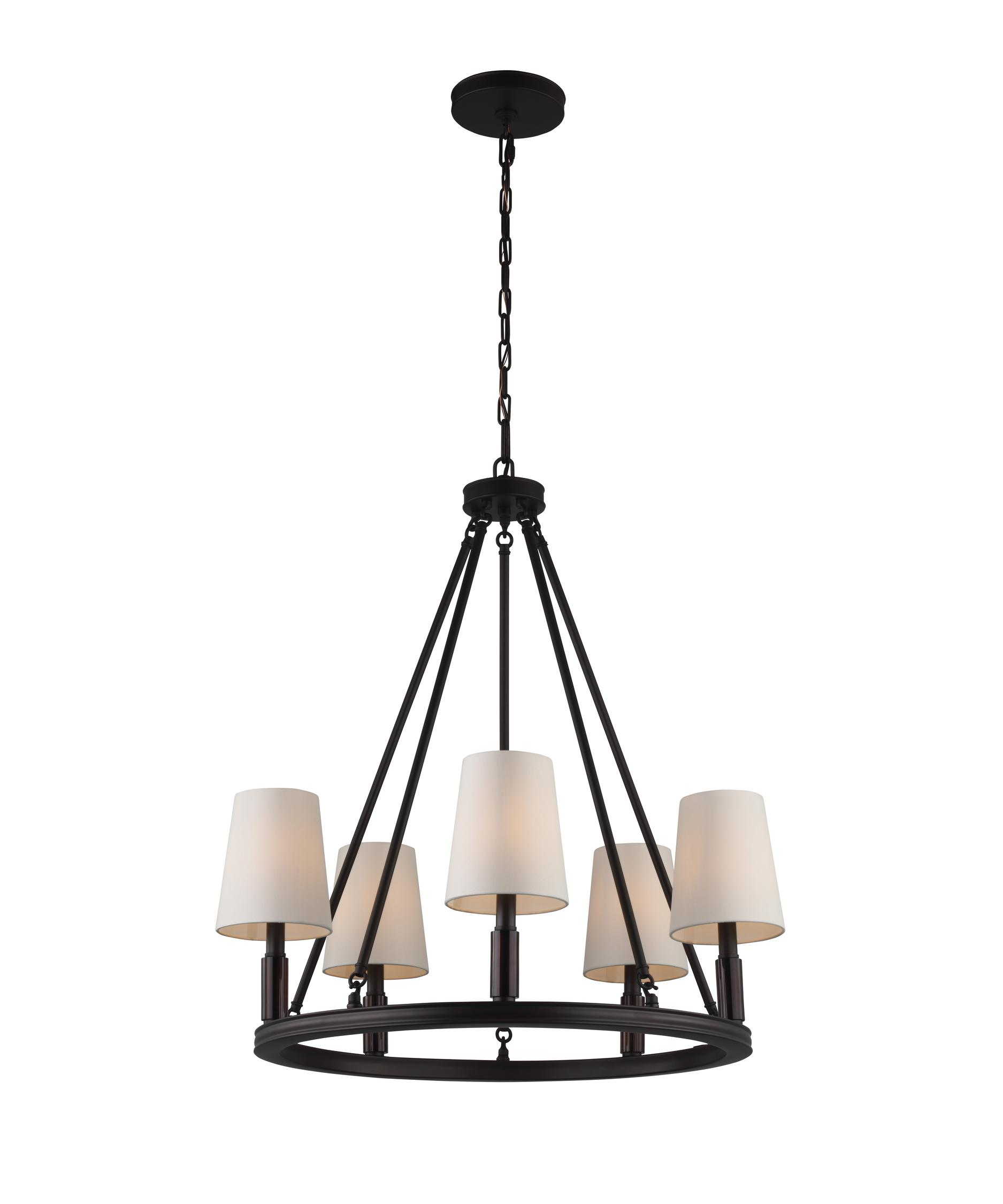 Murray Feiss Lismore 28 Inch Wide 5 Light Chandelier – Murray Feiss Chandeliers