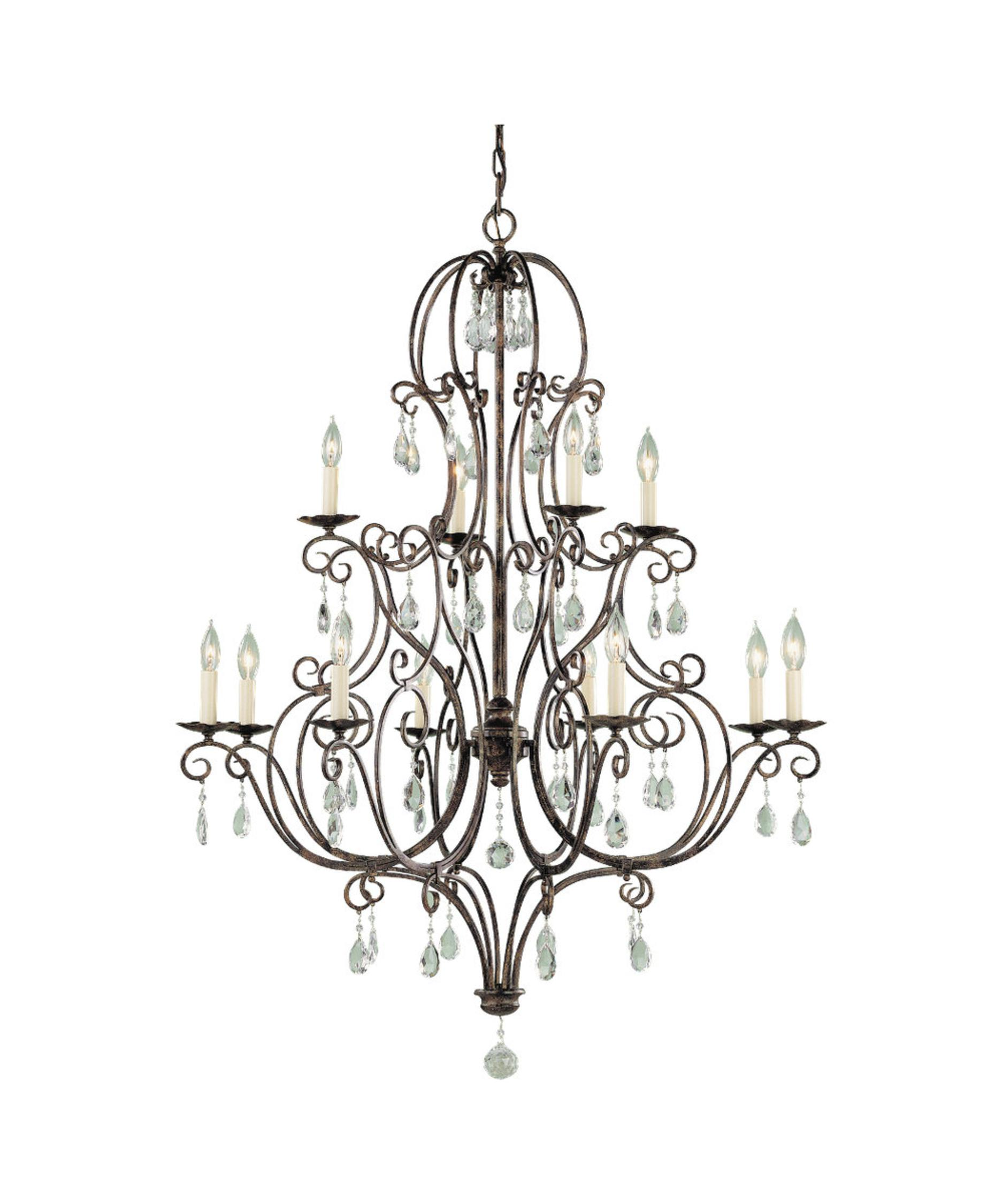 Murray Feiss Chateau 36 Inch Wide 12 Light Chandelier – Murray Feiss Chandeliers