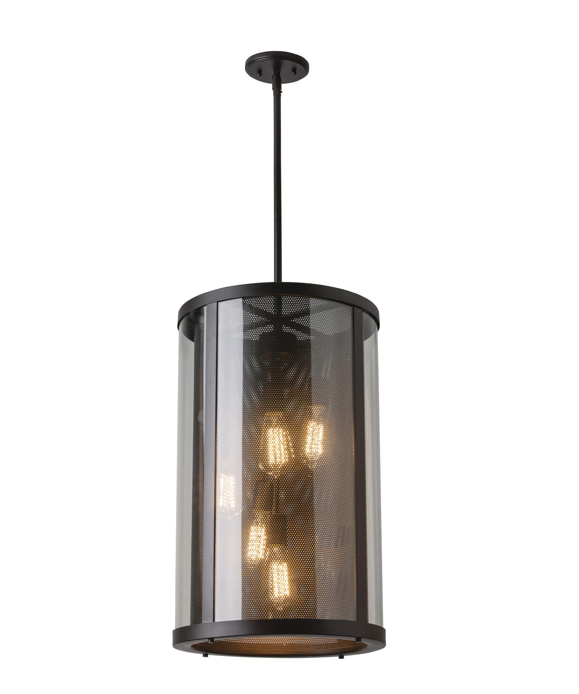 Outdoor hanging lamp - Shown In Oil Rubbed Bronze Finish And Clear Glass