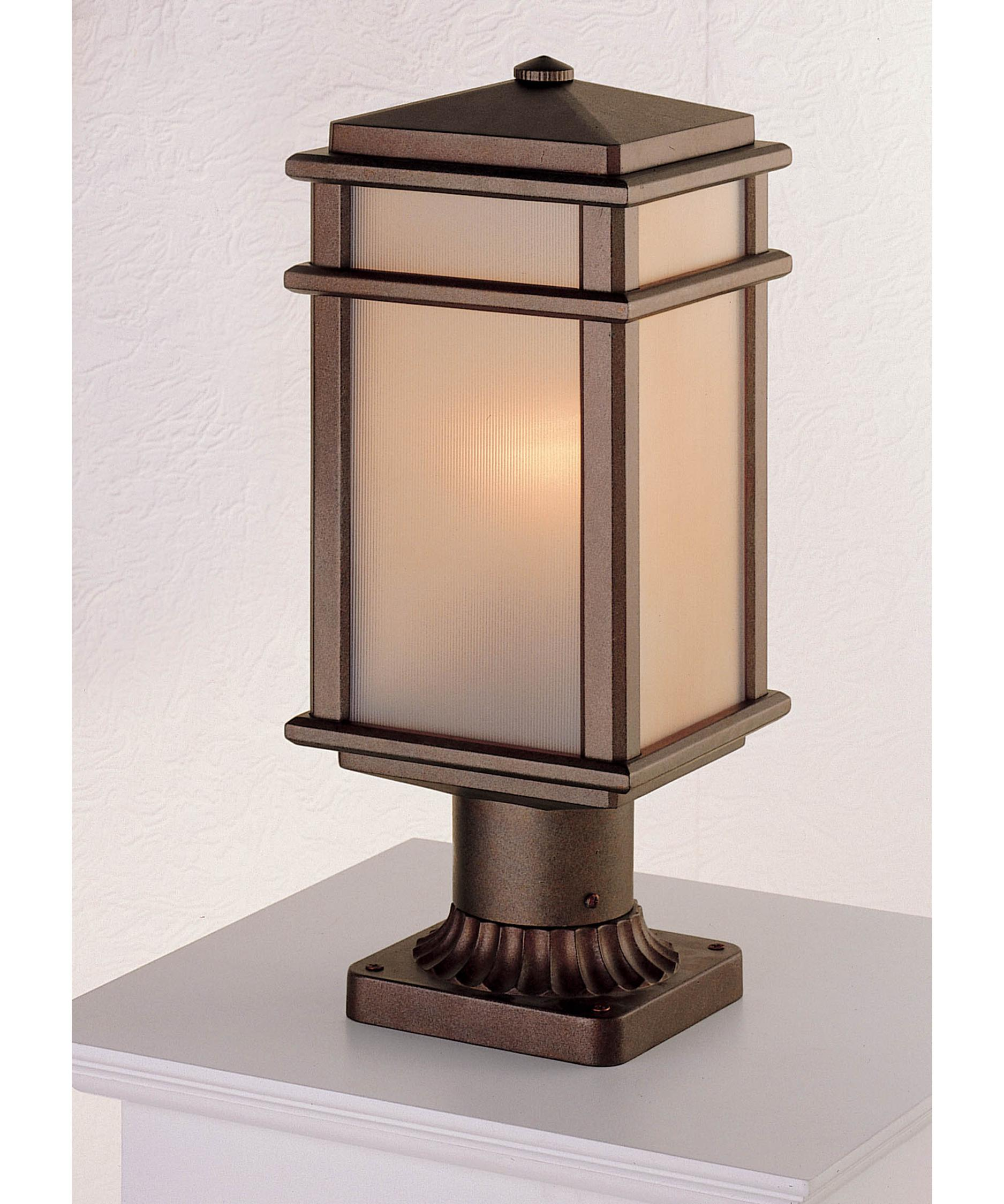 Murray Feiss Outdoor Lighting: Murray Feiss OL3407 Mission Lodge 1 Light Outdoor Post