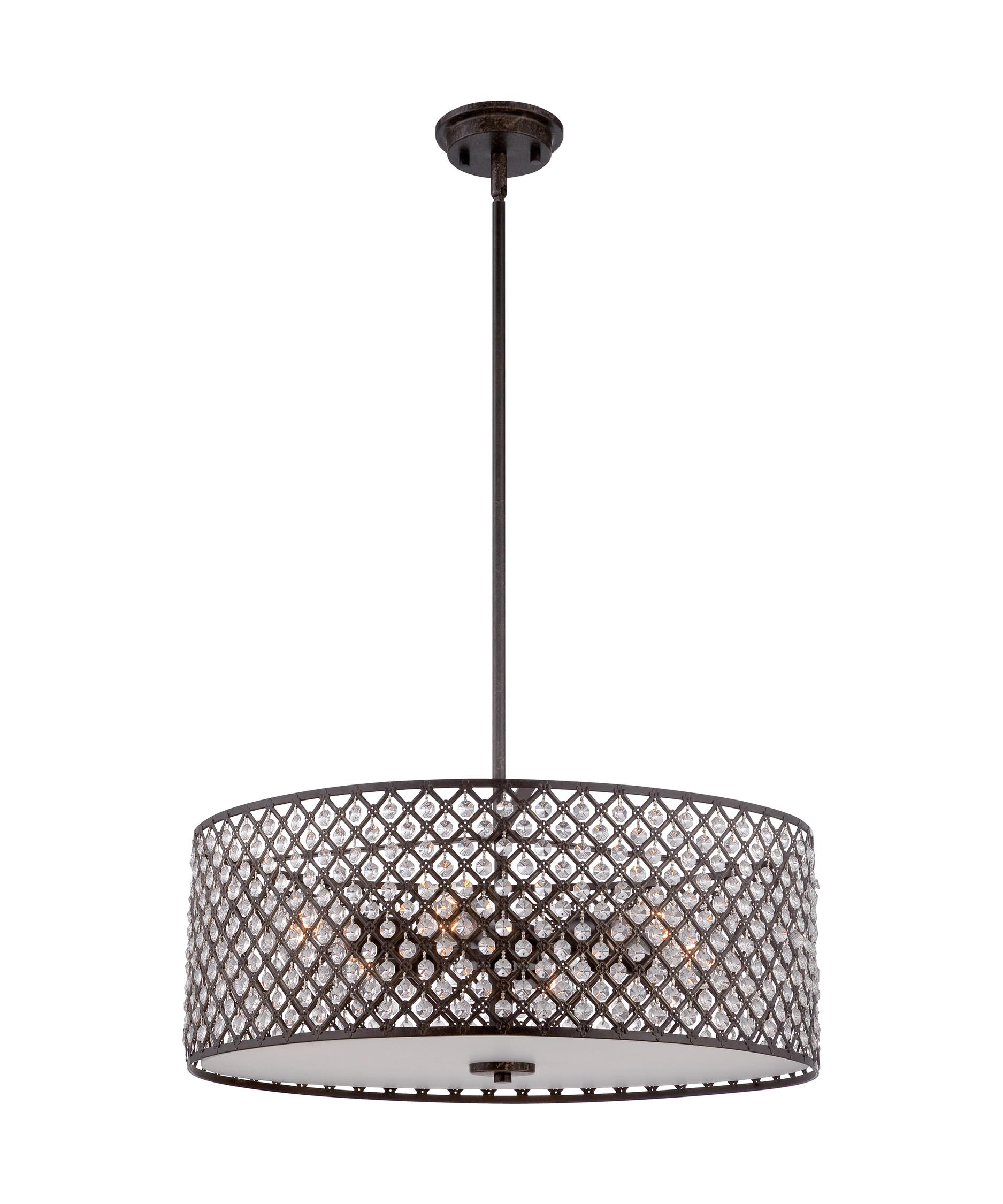 shown in imperial bronze ctn2822 catherine 22 inch wide 6 light large pendant quoizel table lamp lighting