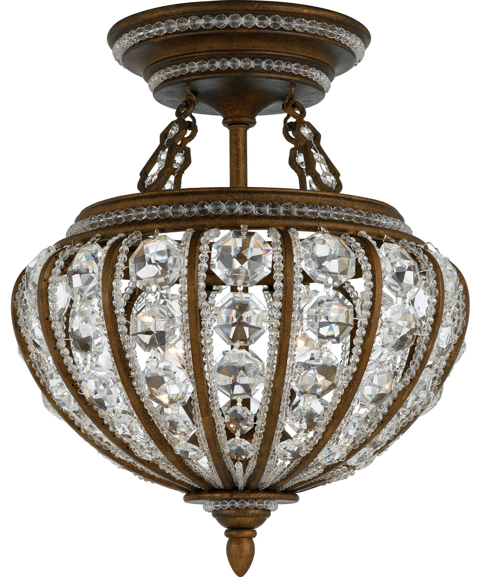 quoizel ep1720 empire 20 inch wide semi flush mount capitol lighting - Semi Flush Mount Lighting