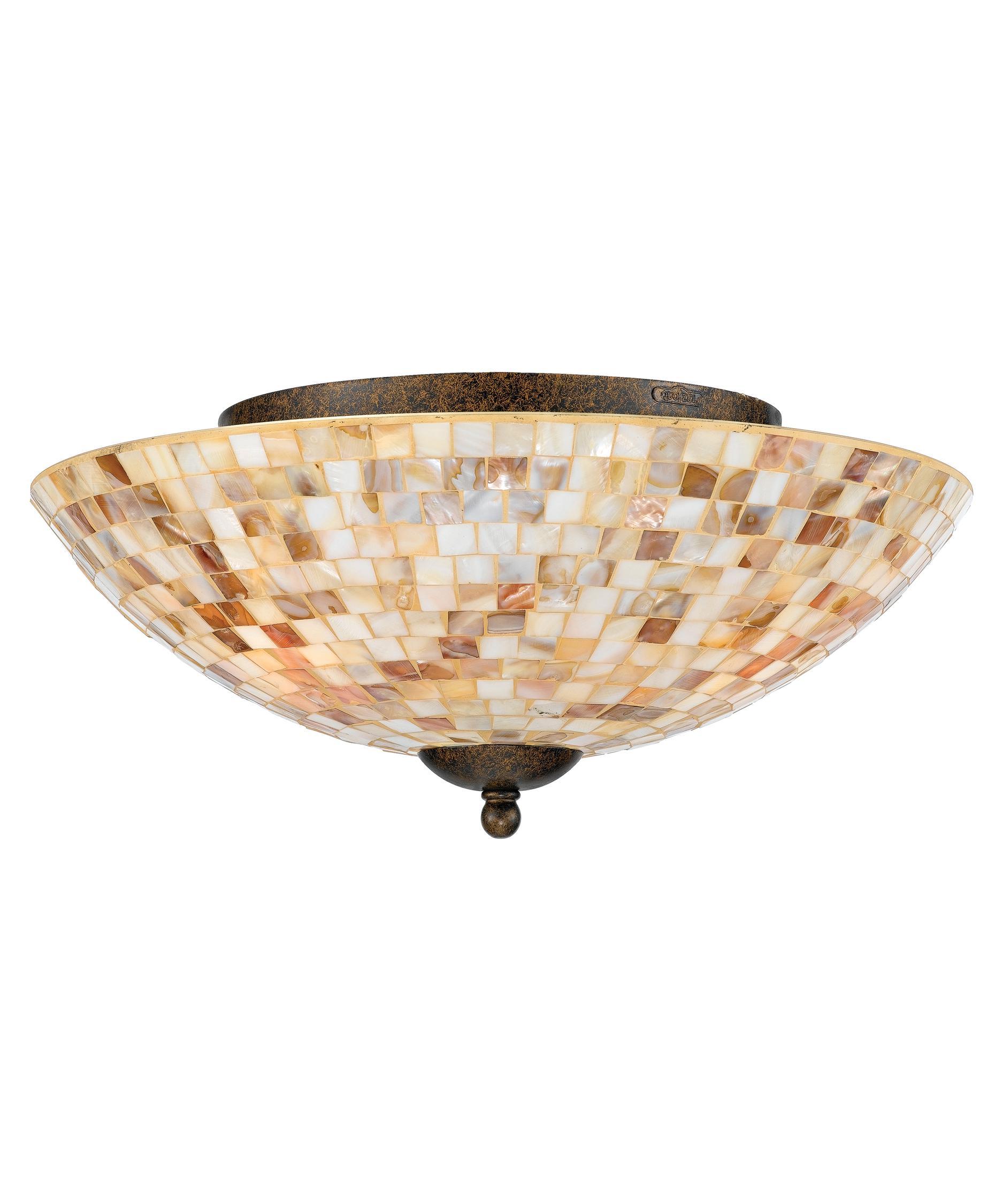 quoizel my1613 monterey mosaic 16 inch wide flush mount capitol lighting