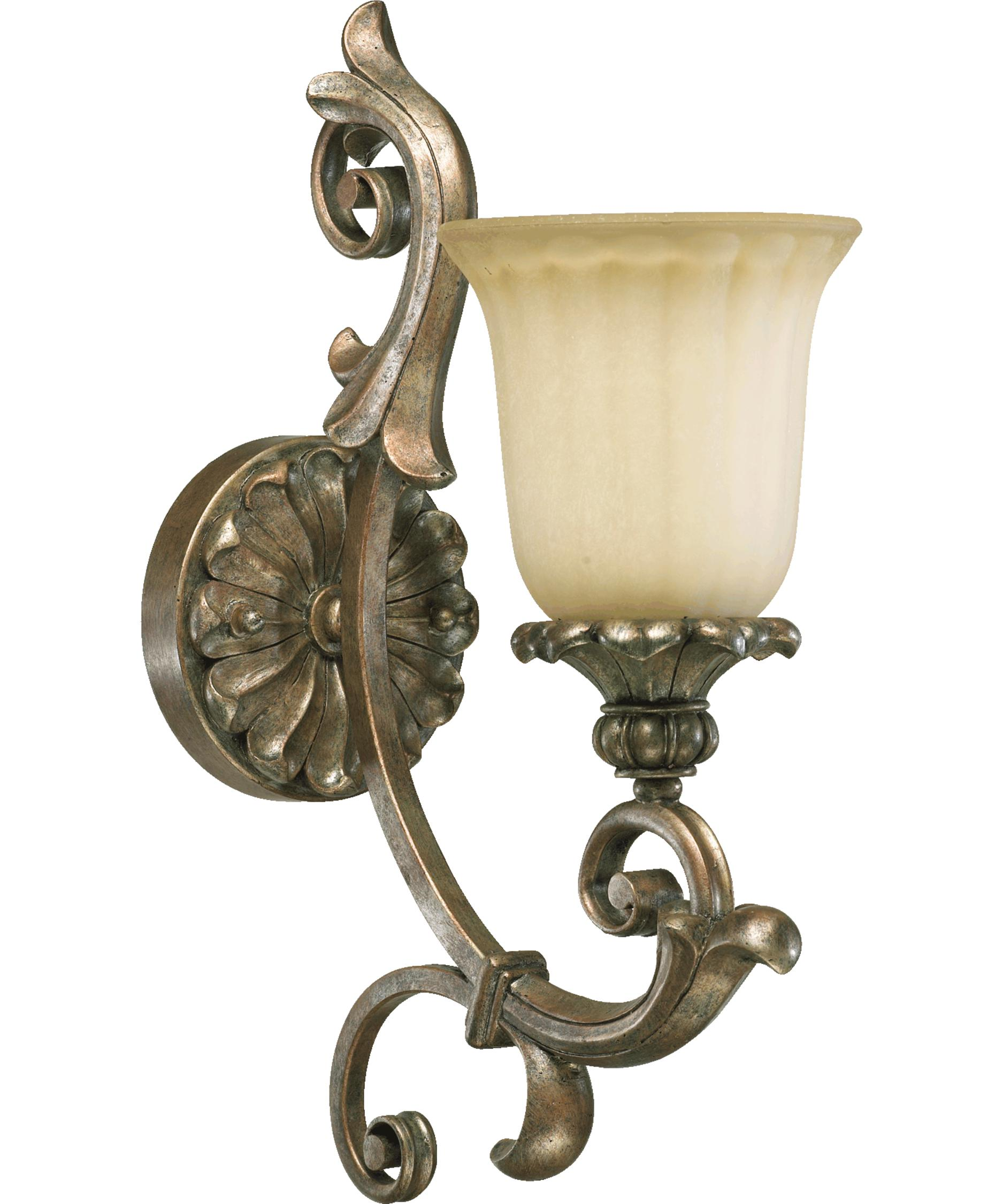 Quorum Bathroom Lighting quorum international 5400-1 barcelona 6 inch wide wall sconce