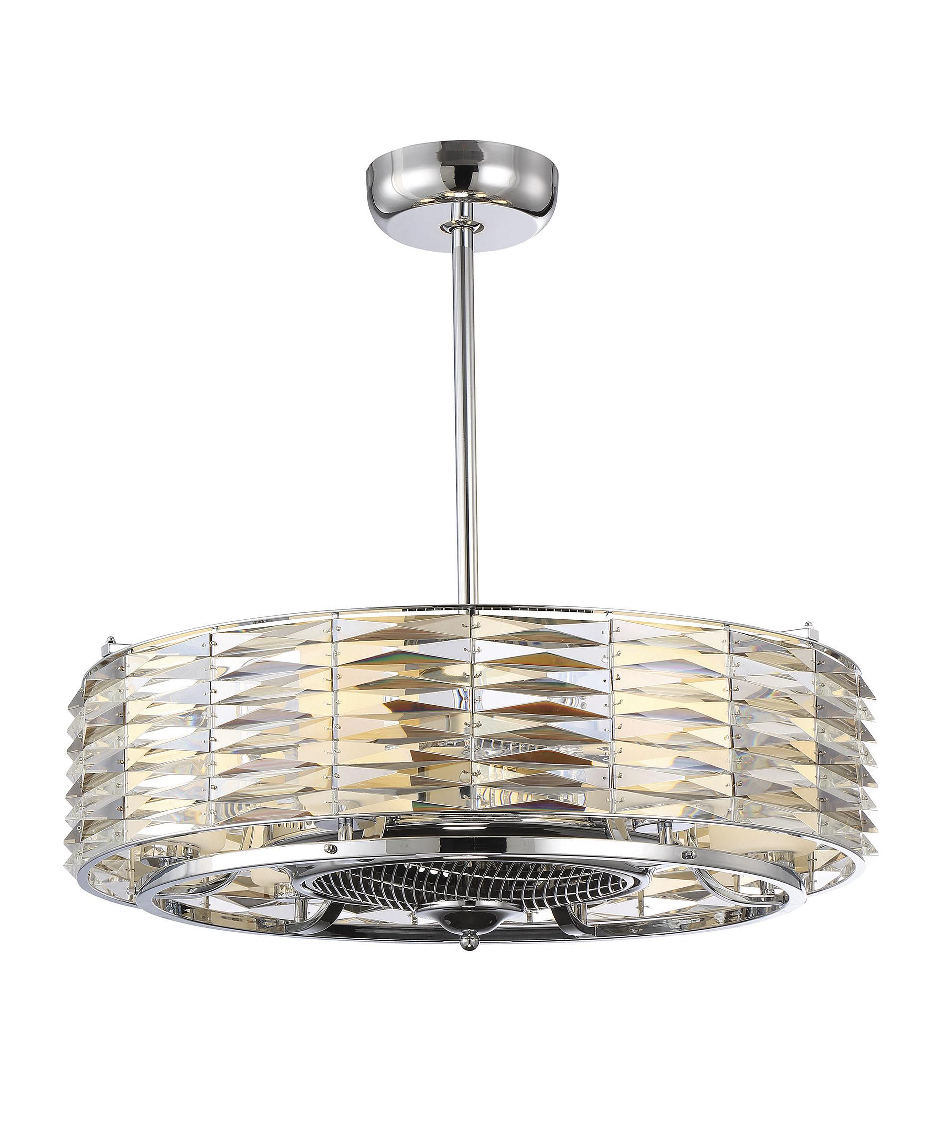Savoy House Taurus 30 Inch Chandelier Ceiling Fan | Capitol ...:Shown in Polished Chrome finish and White Opal glass,Lighting